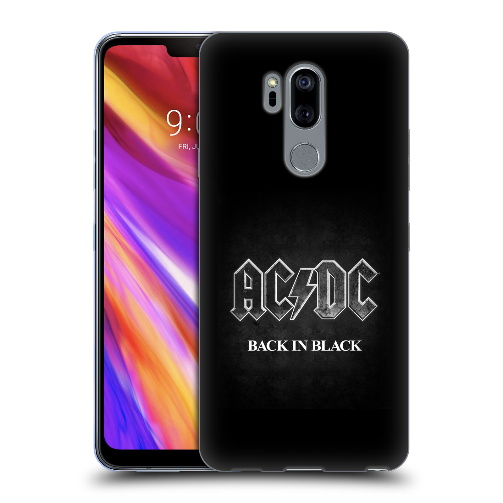 Silikonové pouzdro na mobil LG G7 ThinQ - Head Case - AC/DC BACK IN BLACK