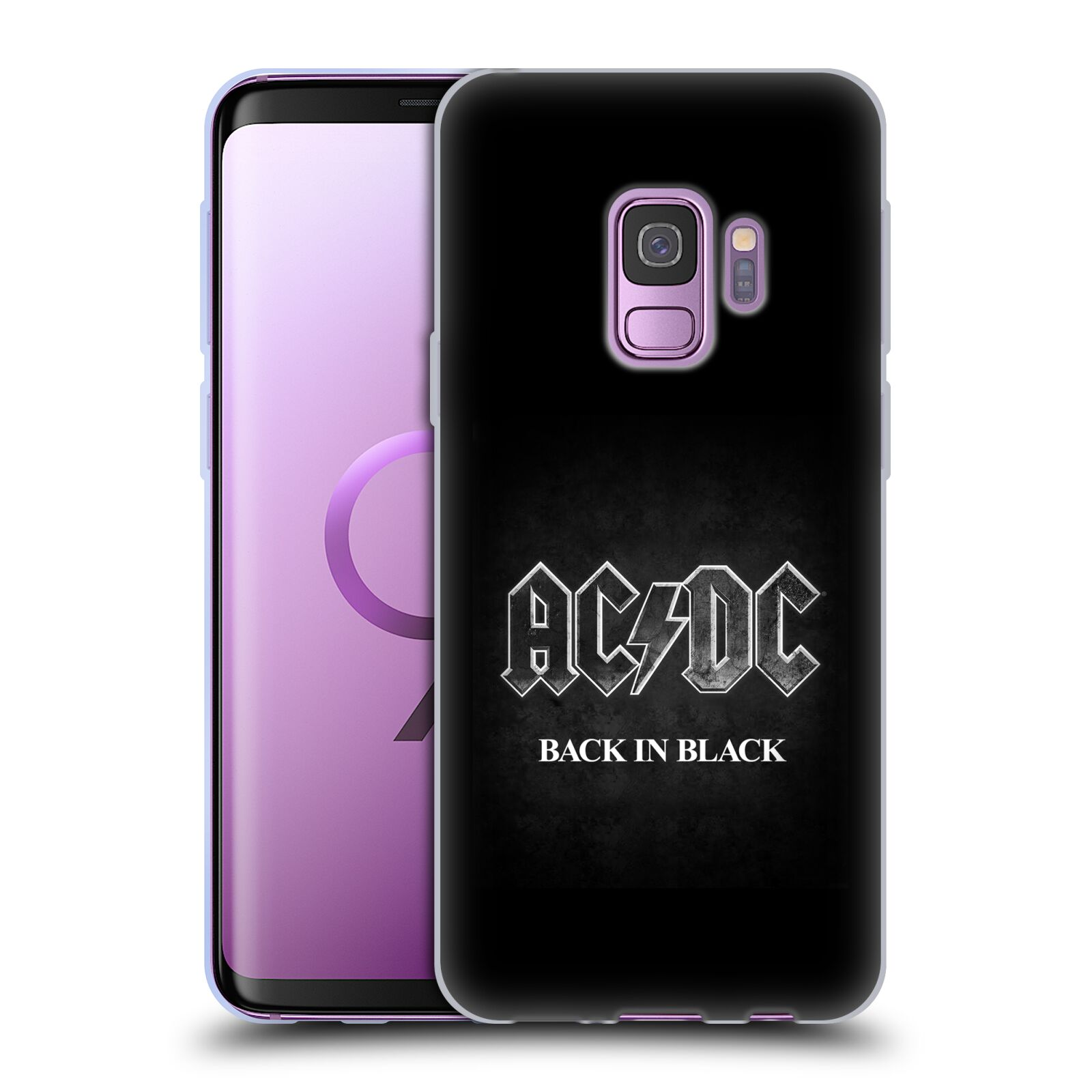Silikonové pouzdro na mobil Samsung Galaxy S9 - Head Case - AC/DC BACK IN BLACK