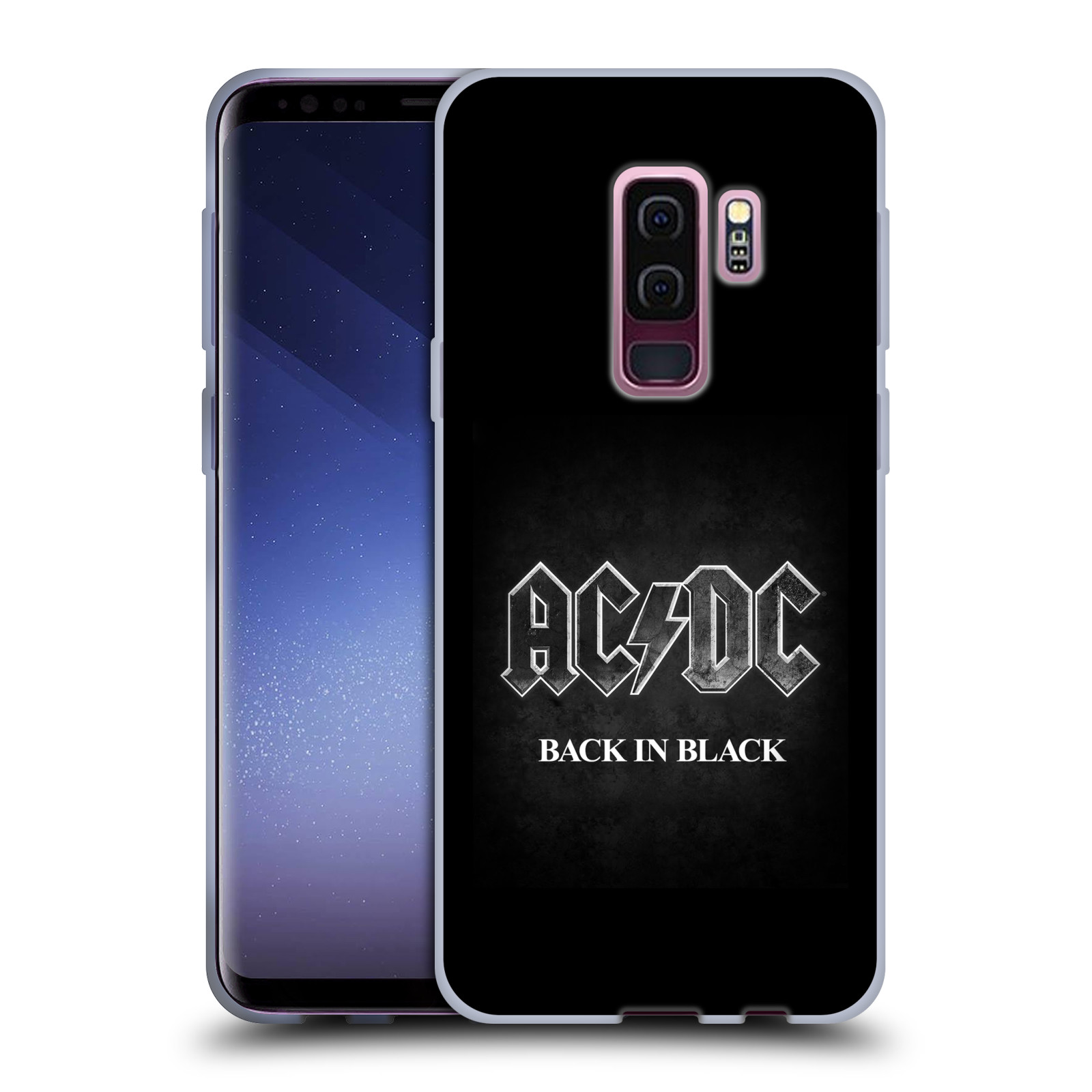 Silikonové pouzdro na mobil Samsung Galaxy S9 Plus - Head Case - AC/DC BACK IN BLACK