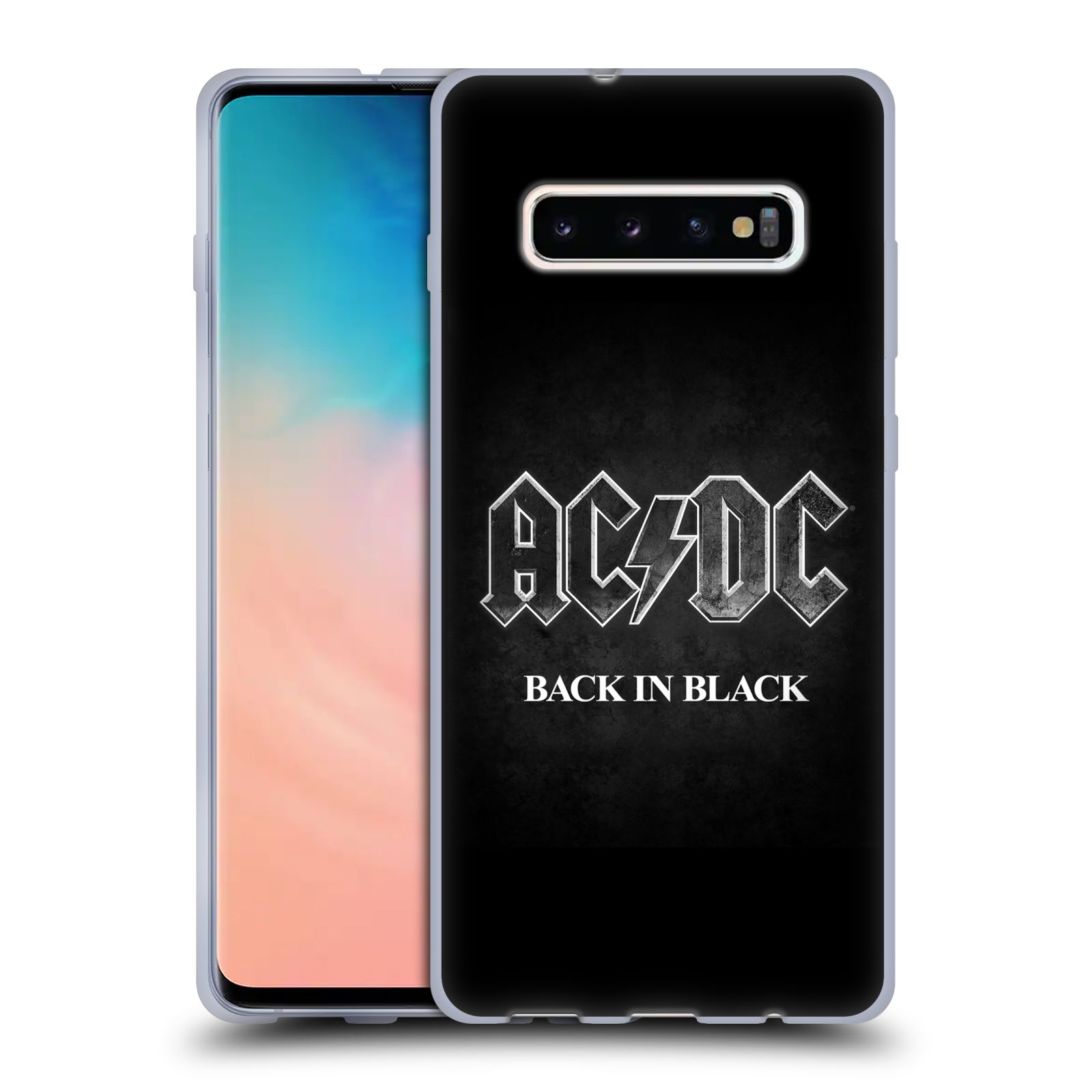 Silikonové pouzdro na mobil Samsung Galaxy S10 Plus - Head Case - AC/DC BACK IN BLACK