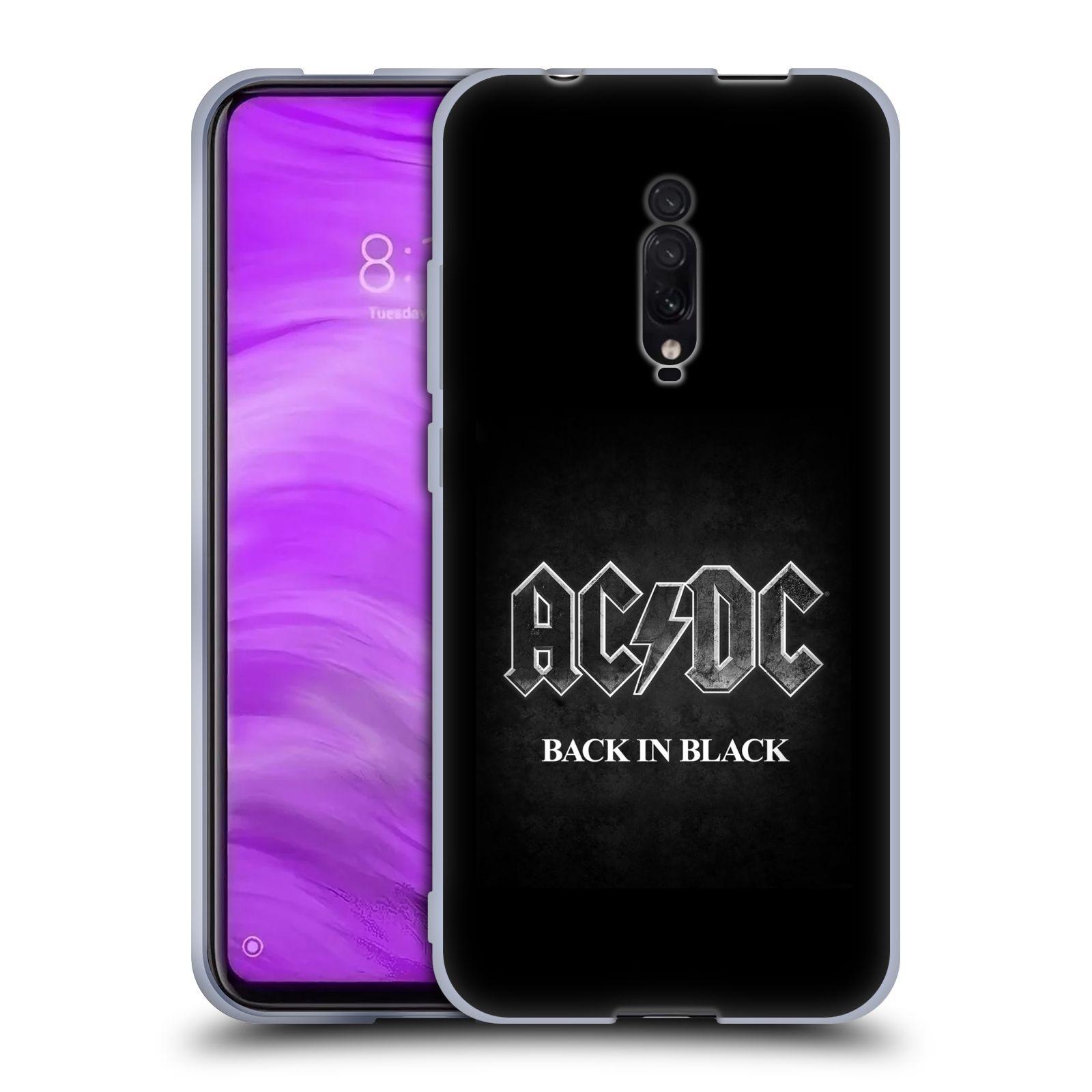 Silikonové pouzdro na mobil Xiaomi Mi 9T - Head Case - AC/DC BACK IN BLACK