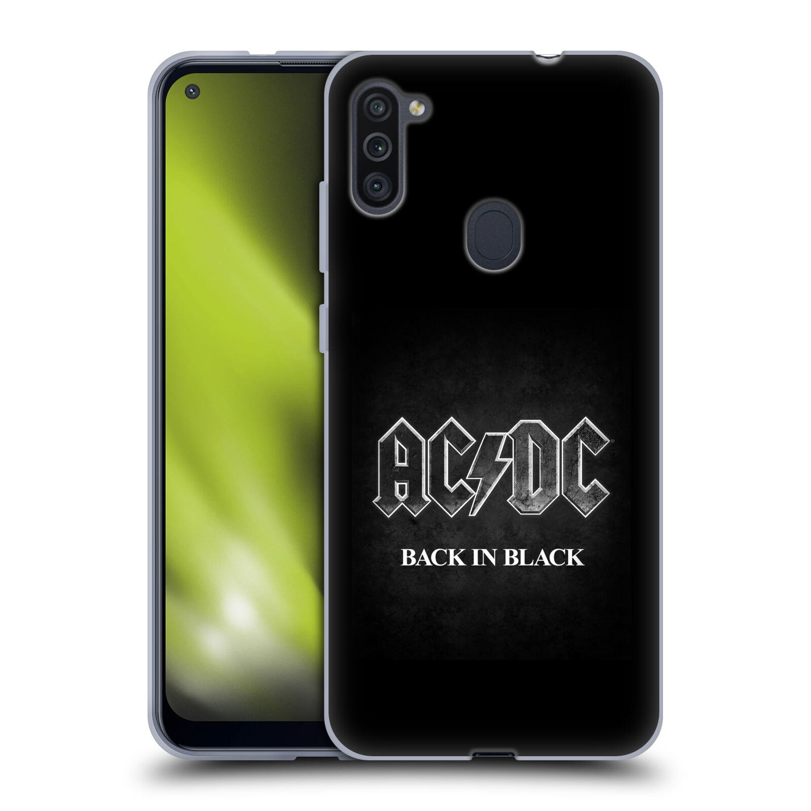 Silikonové pouzdro na mobil Samsung Galaxy M11 - Head Case - AC/DC BACK IN BLACK