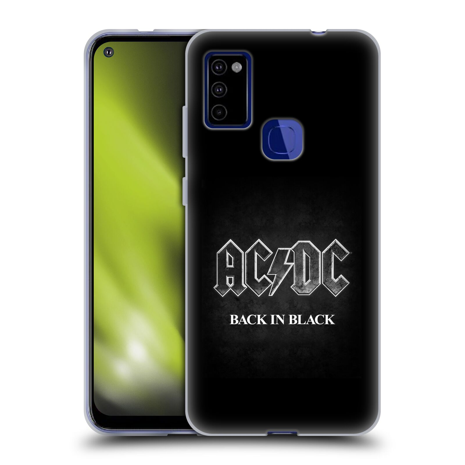 Silikonové pouzdro na mobil Samsung Galaxy M51 - Head Case - AC/DC BACK IN BLACK