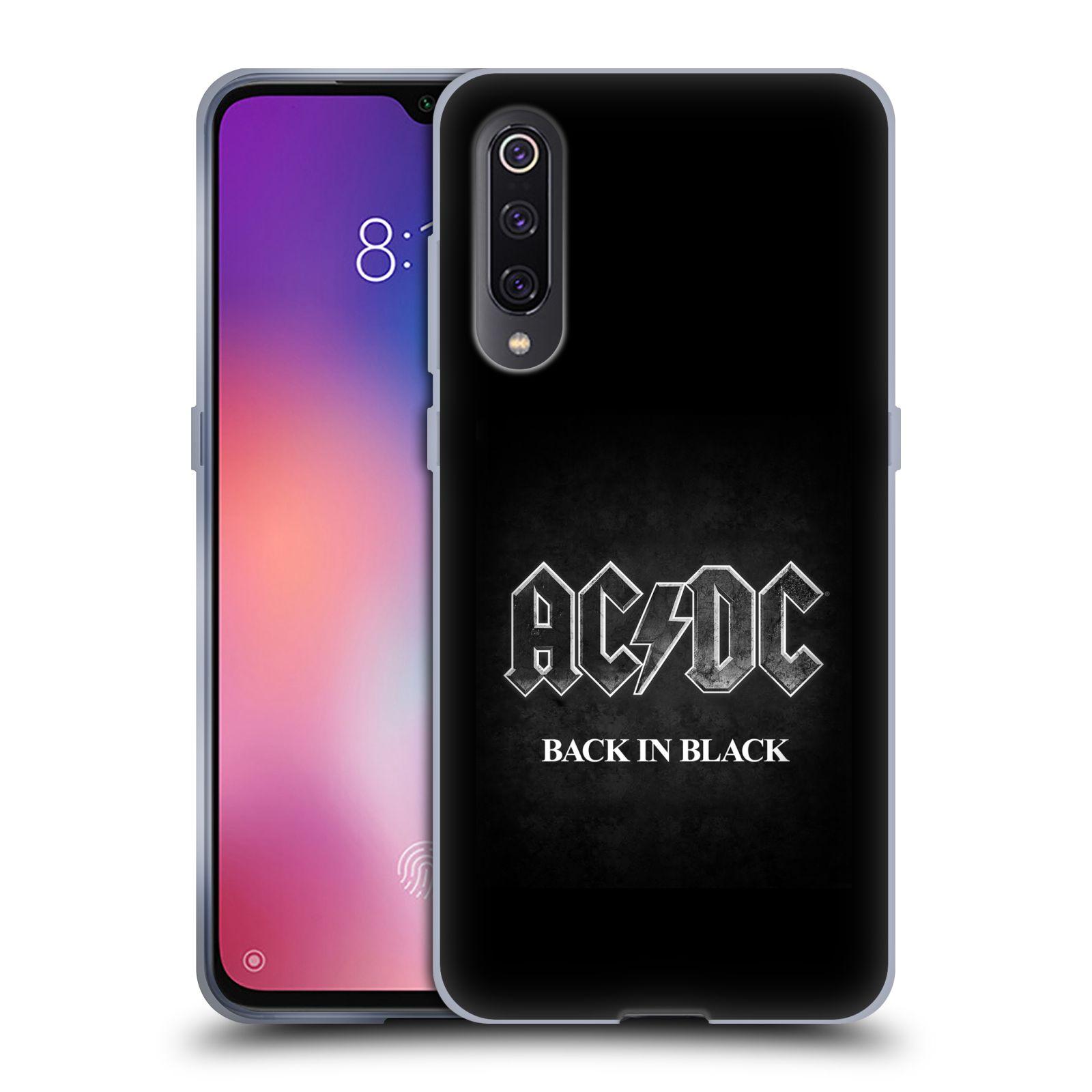 Silikonové pouzdro na mobil Xiaomi Mi 9 - Head Case - AC/DC BACK IN BLACK