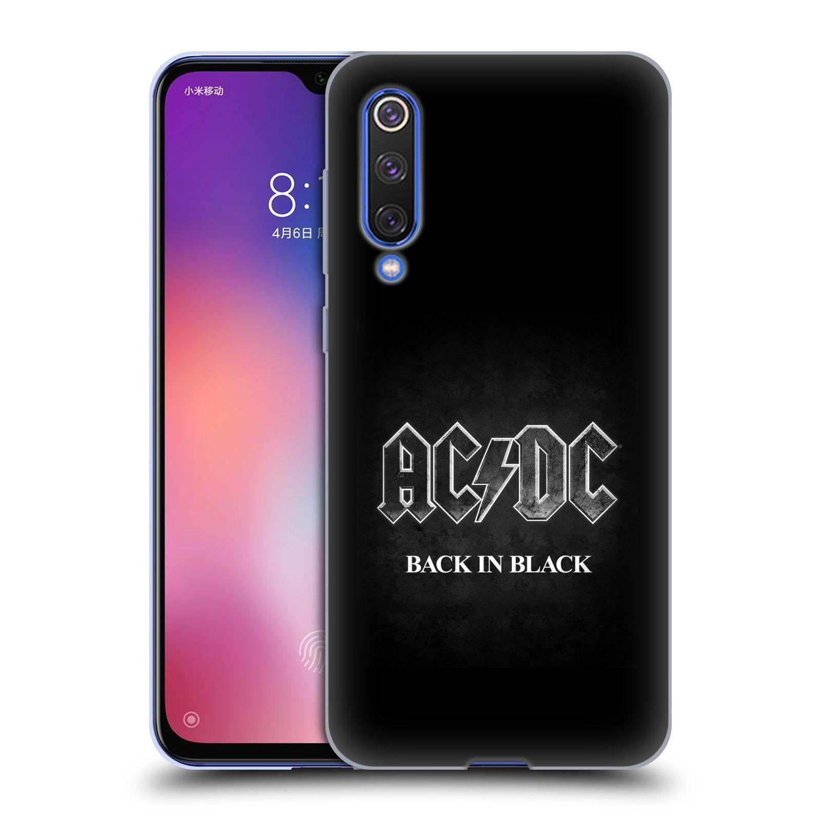 Silikonové pouzdro na mobil Xiaomi Mi 9 SE - Head Case - AC/DC BACK IN BLACK
