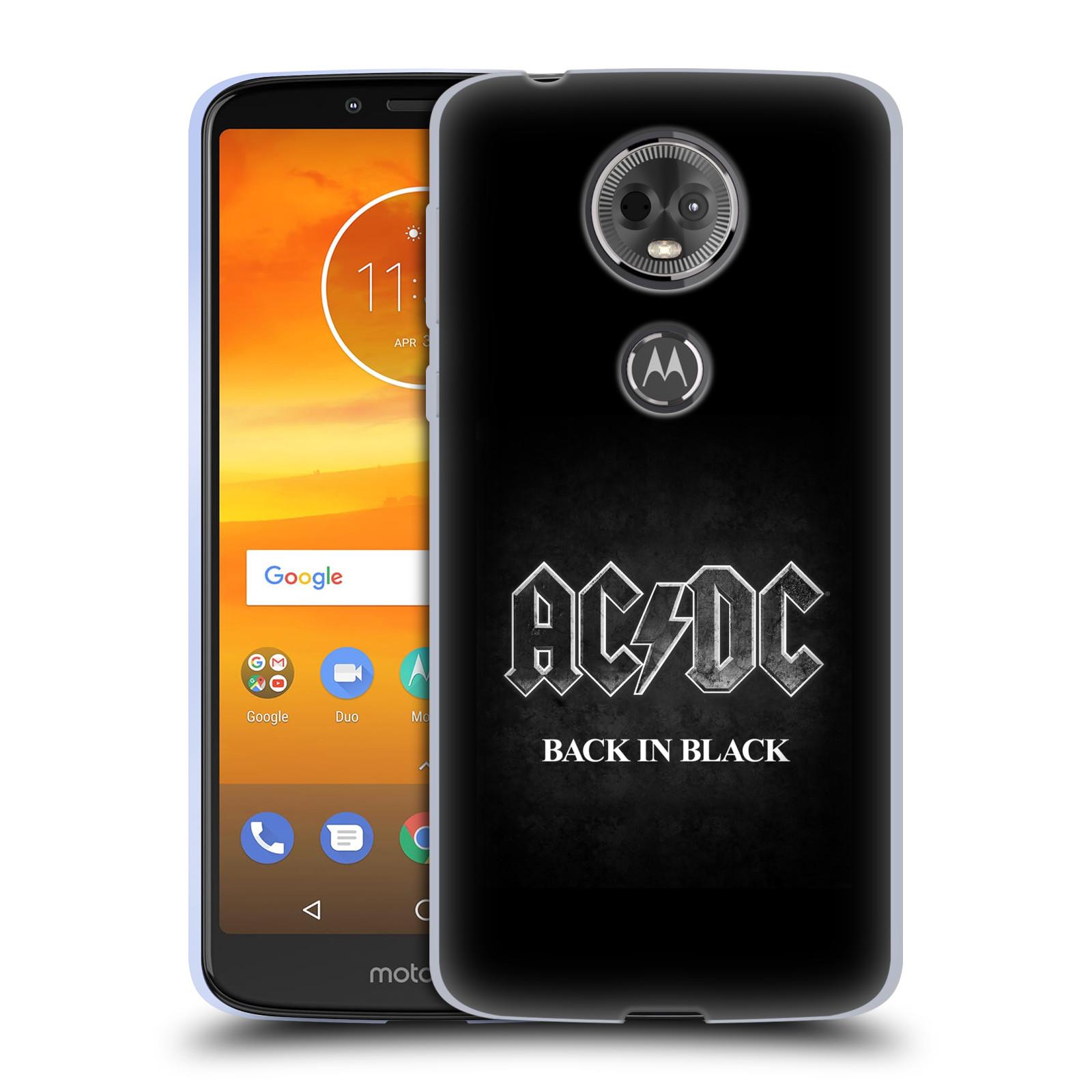Silikonové pouzdro na mobil Motorola Moto E5 Plus - Head Case - AC/DC BACK IN BLACK