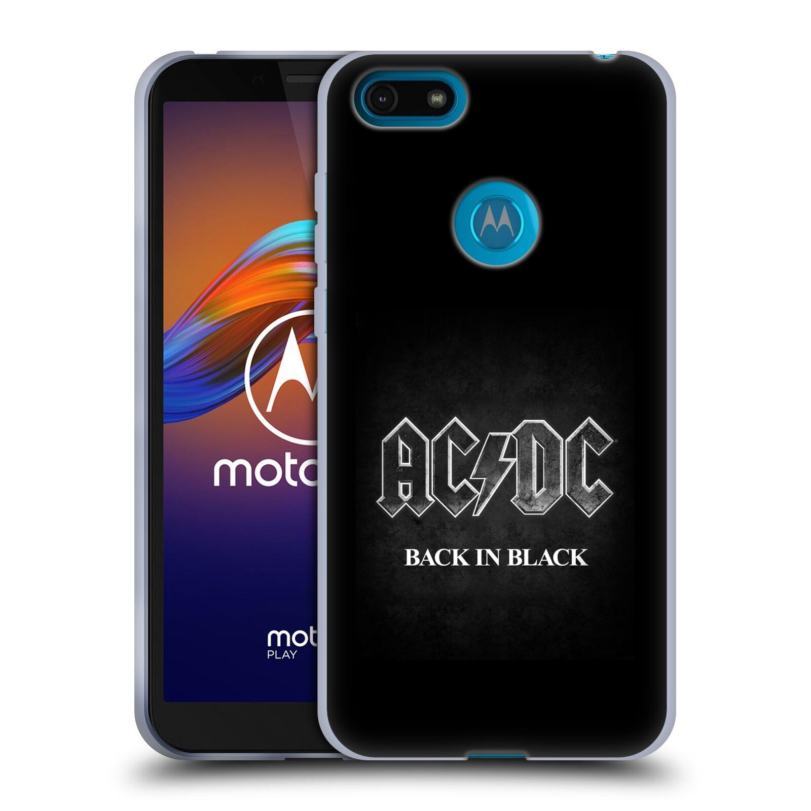 Silikonové pouzdro na mobil Motorola Moto E6 Play - Head Case - AC/DC BACK IN BLACK