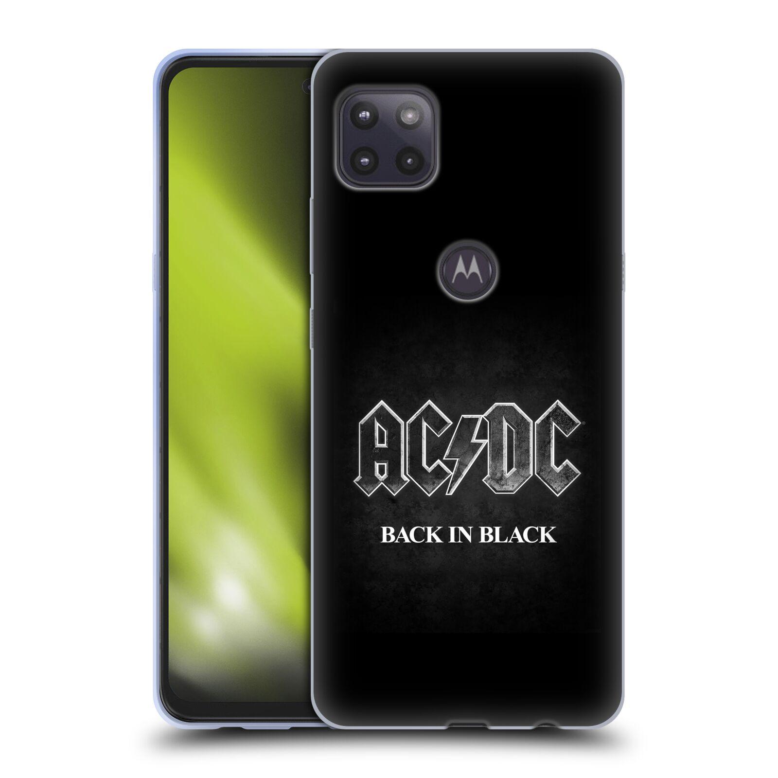 Silikonové pouzdro na mobil Motorola Moto G 5G - Head Case - AC/DC BACK IN BLACK