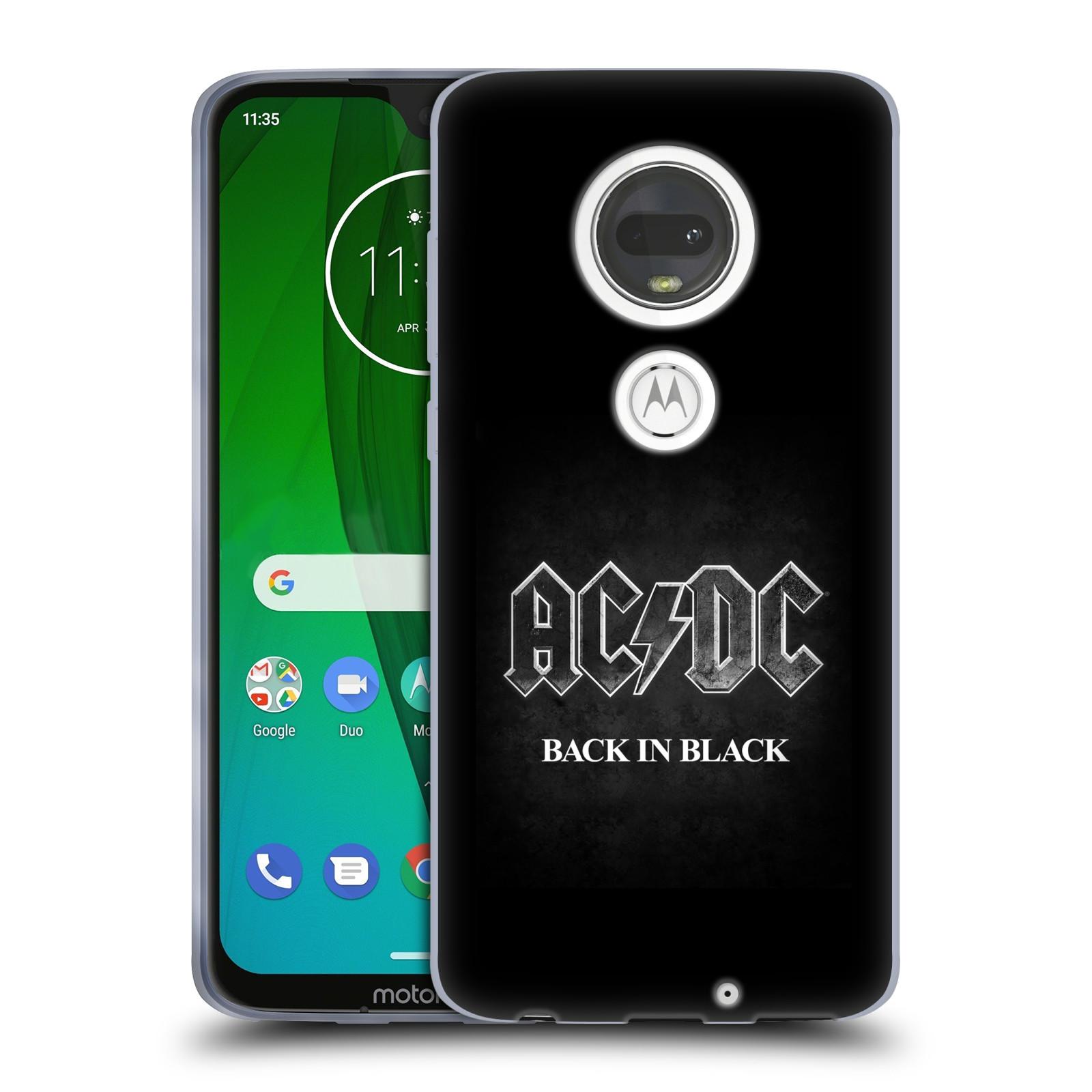 Silikonové pouzdro na mobil Motorola Moto G7 - Head Case - AC/DC BACK IN BLACK