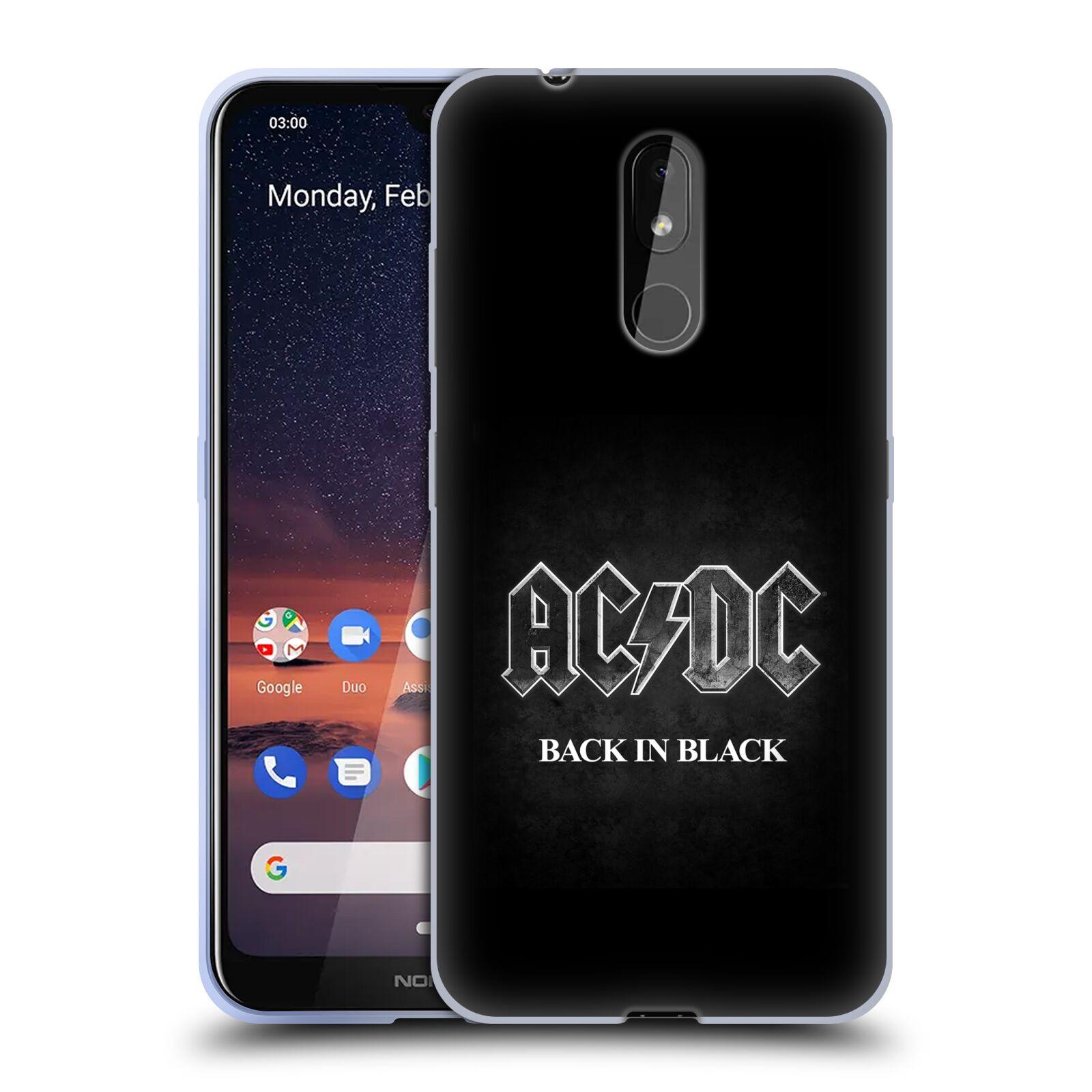 Silikonové pouzdro na mobil Nokia 3.2 - Head Case - AC/DC BACK IN BLACK