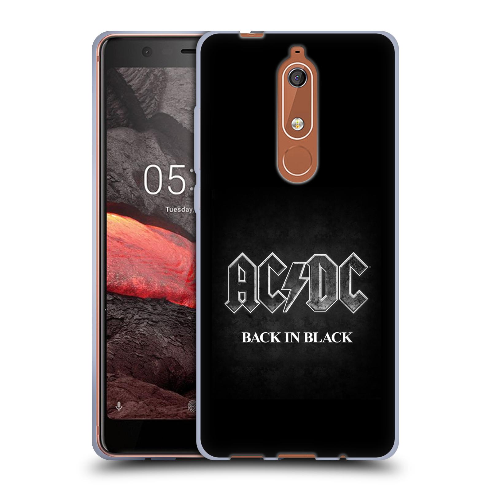 Silikonové pouzdro na mobil Nokia 5.1 - Head Case - AC/DC BACK IN BLACK