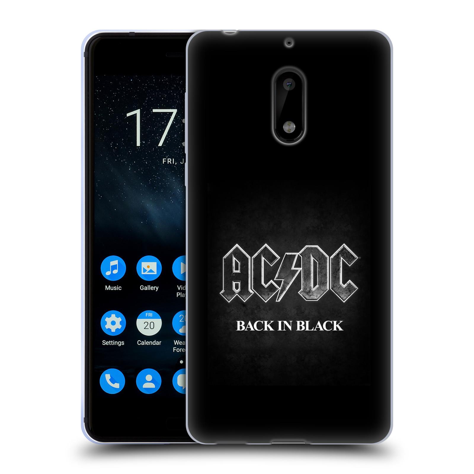 Silikonové pouzdro na mobil Nokia 6 - Head Case - AC/DC BACK IN BLACK
