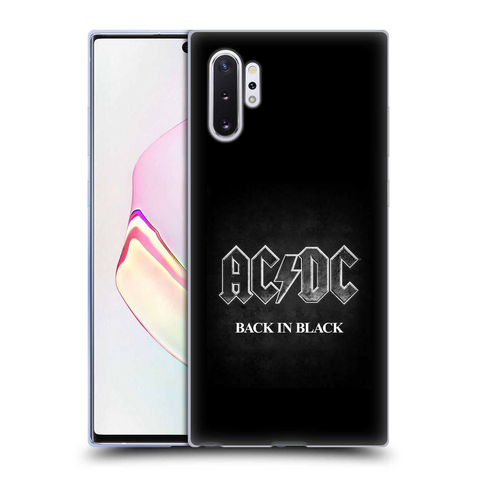 Silikonové pouzdro na mobil Samsung Galaxy Note 10 Plus - Head Case - AC/DC BACK IN BLACK
