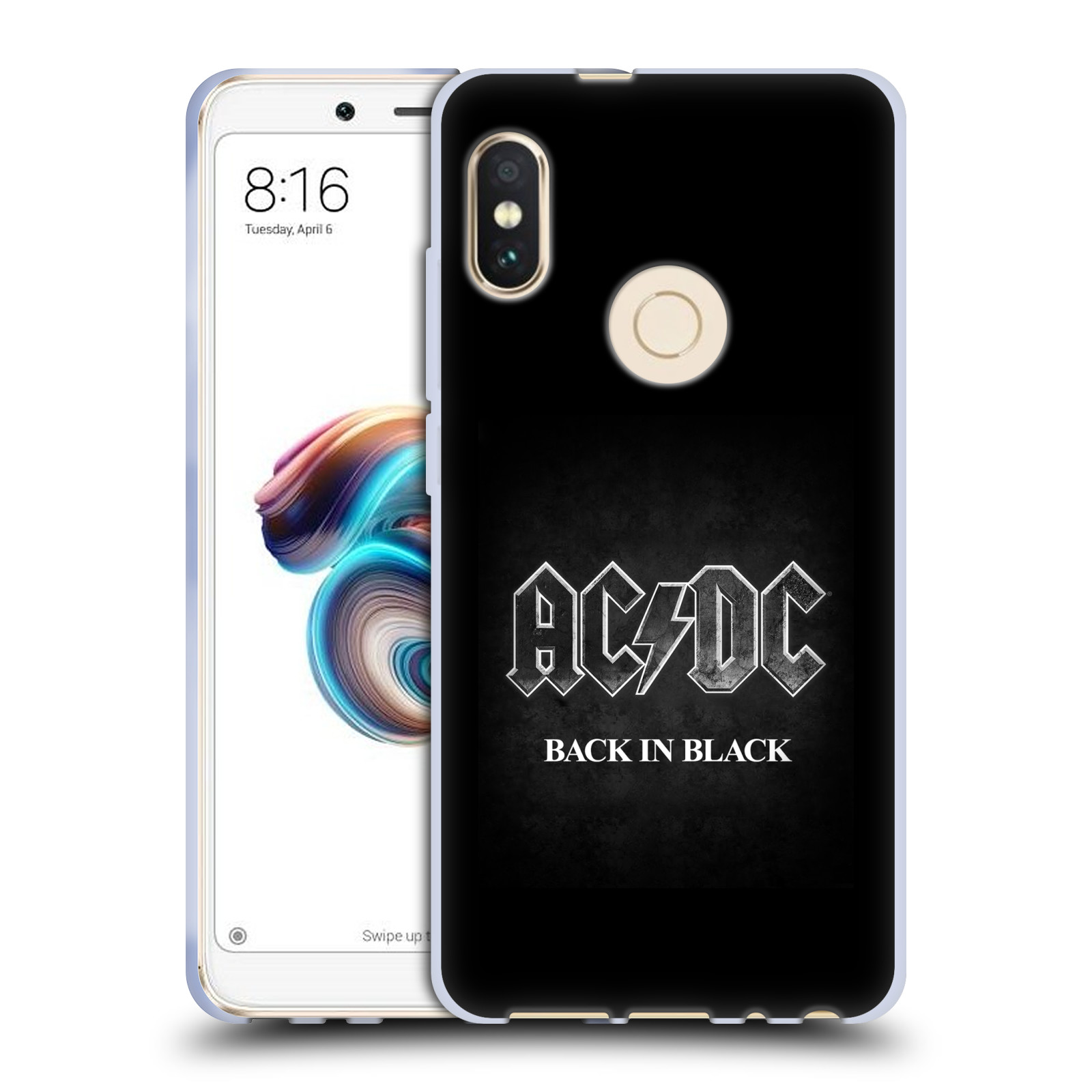 Silikonové pouzdro na mobil Xiaomi Redmi Note 5 - Head Case - AC/DC BACK IN BLACK