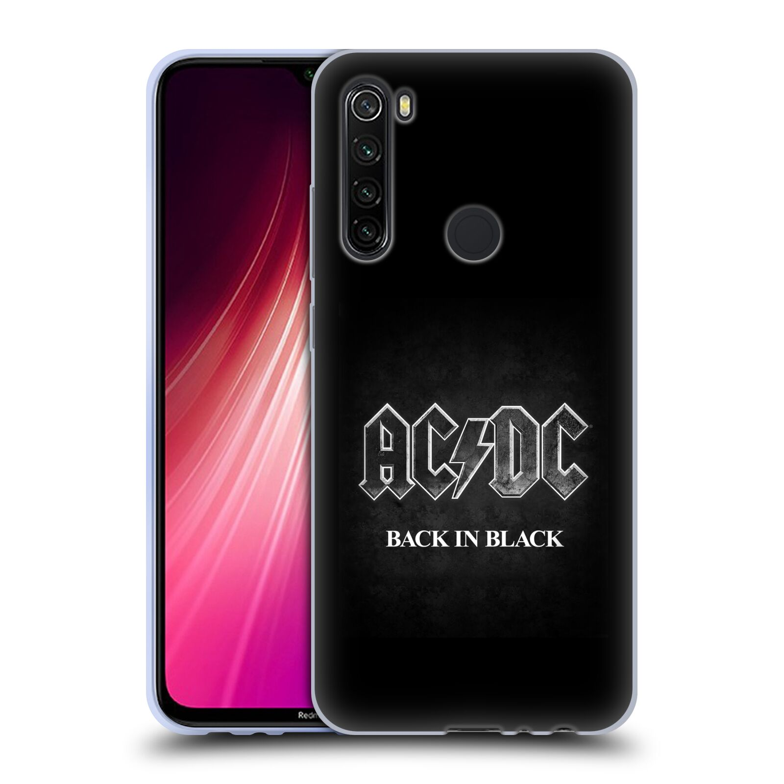 Silikonové pouzdro na mobil Xiaomi Redmi Note 8T - Head Case - AC/DC BACK IN BLACK