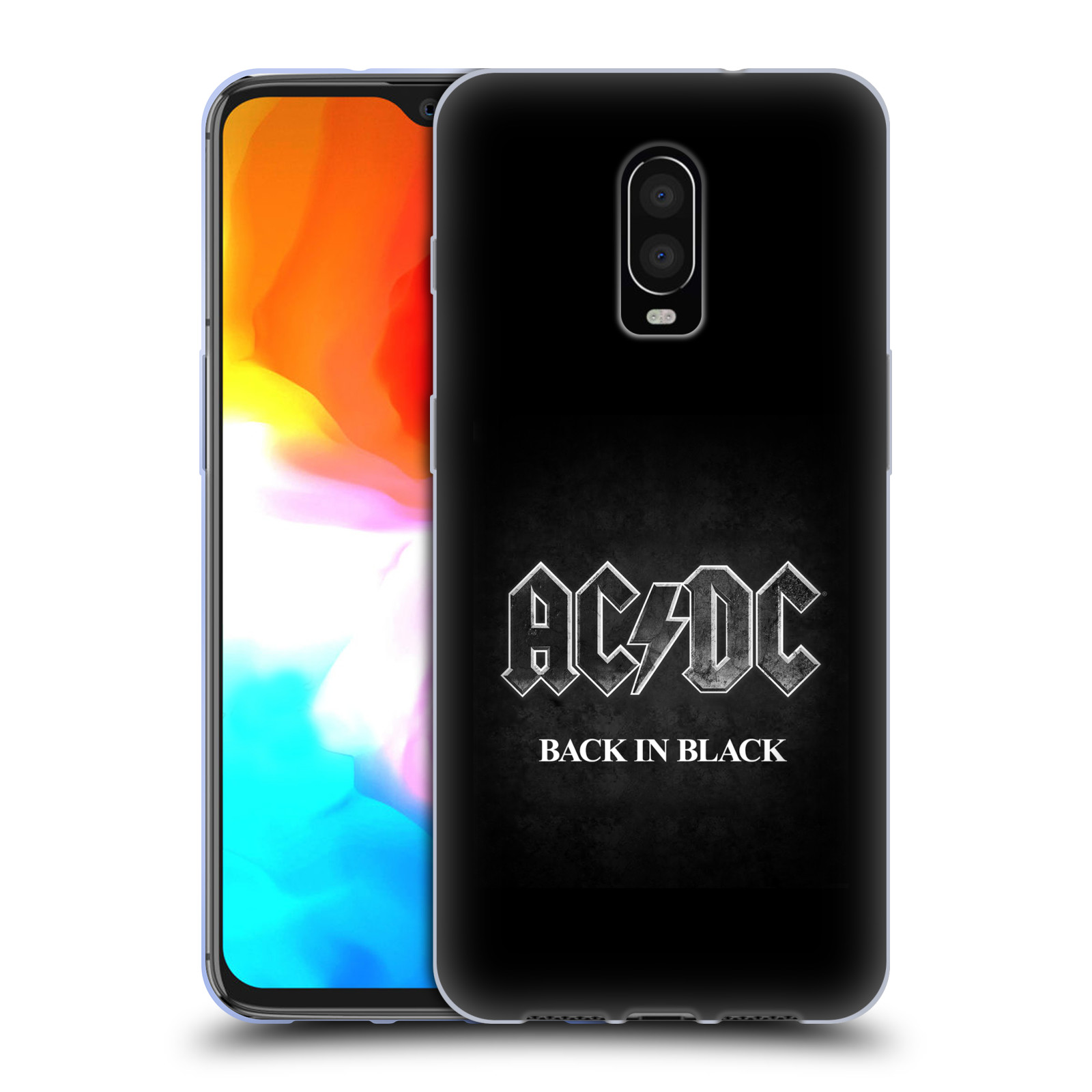 Silikonové pouzdro na mobil OnePlus 6T - Head Case - AC/DC BACK IN BLACK