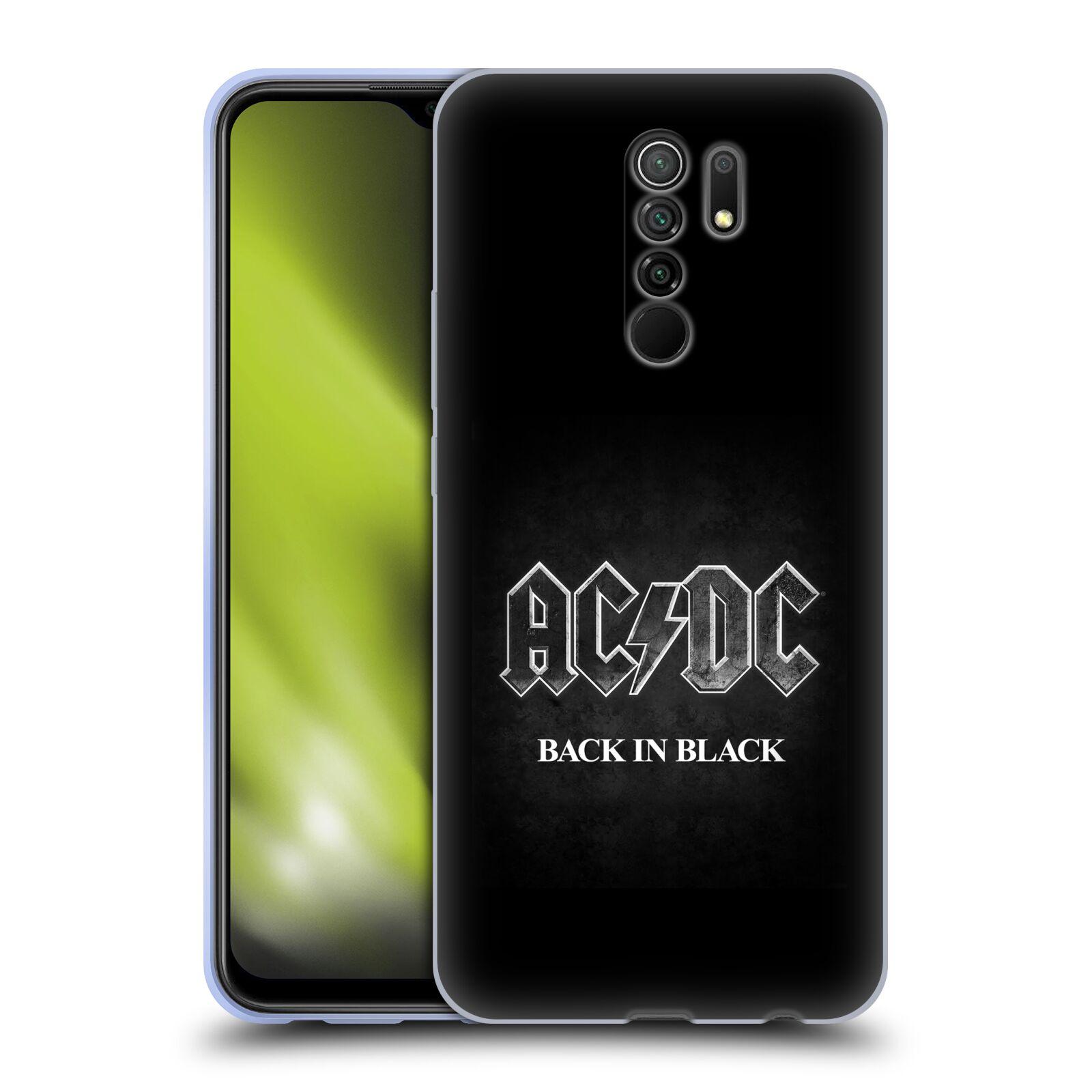 Silikonové pouzdro na mobil Xiaomi Redmi 9 - Head Case - AC/DC BACK IN BLACK