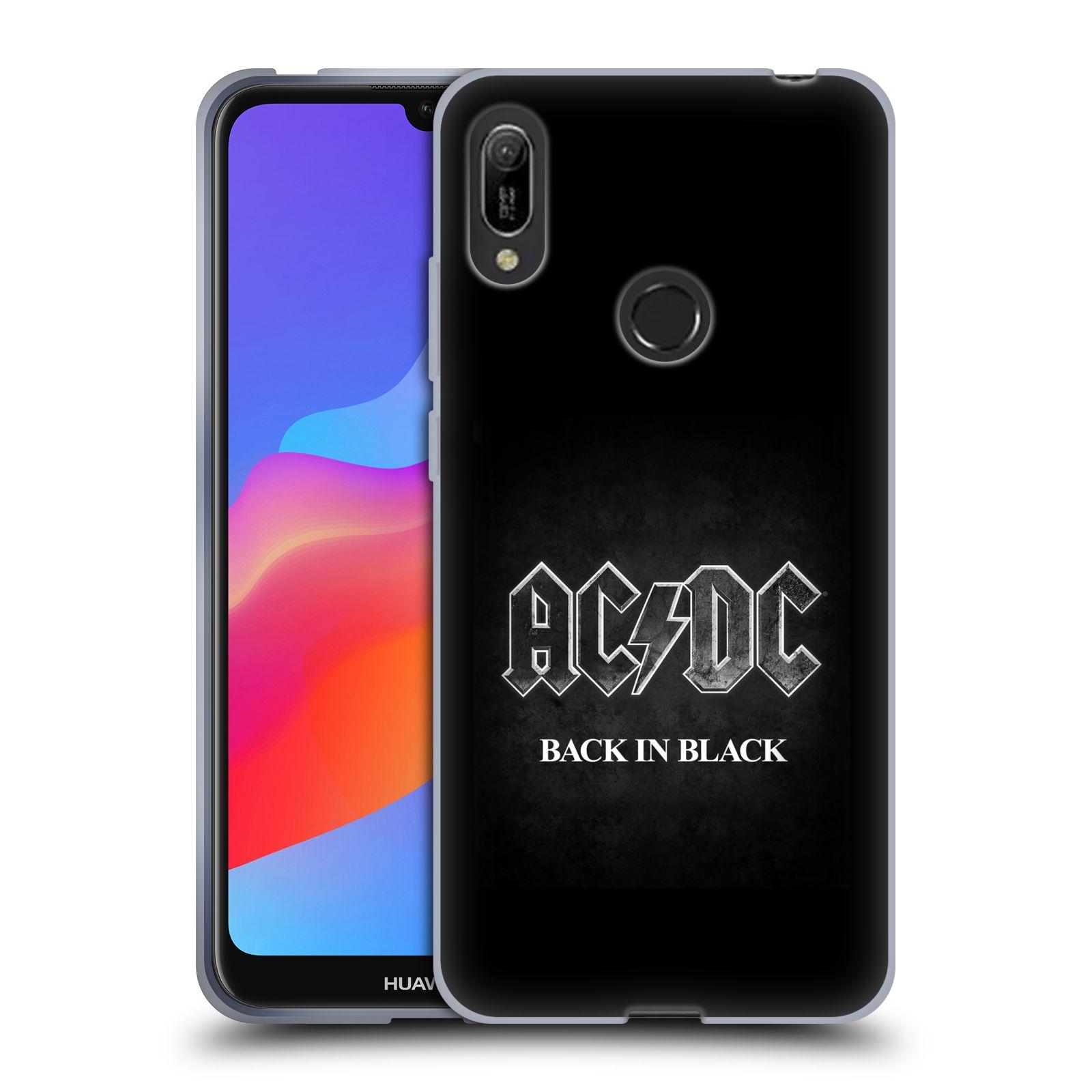 Silikonové pouzdro na mobil Huawei Y6 (2019) - Head Case - AC/DC BACK IN BLACK
