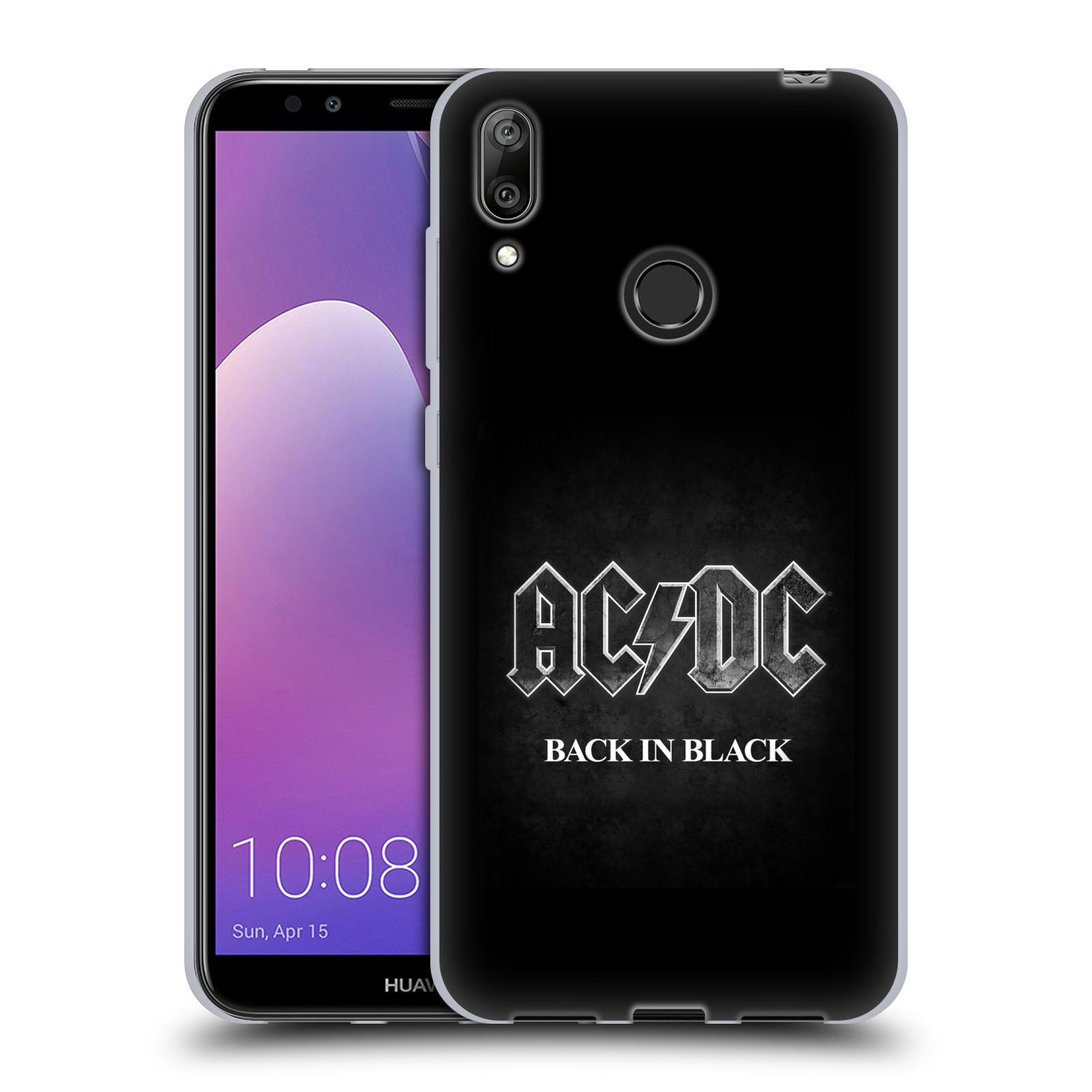 Silikonové pouzdro na mobil Huawei Y7 (2019) - Head Case - AC/DC BACK IN BLACK