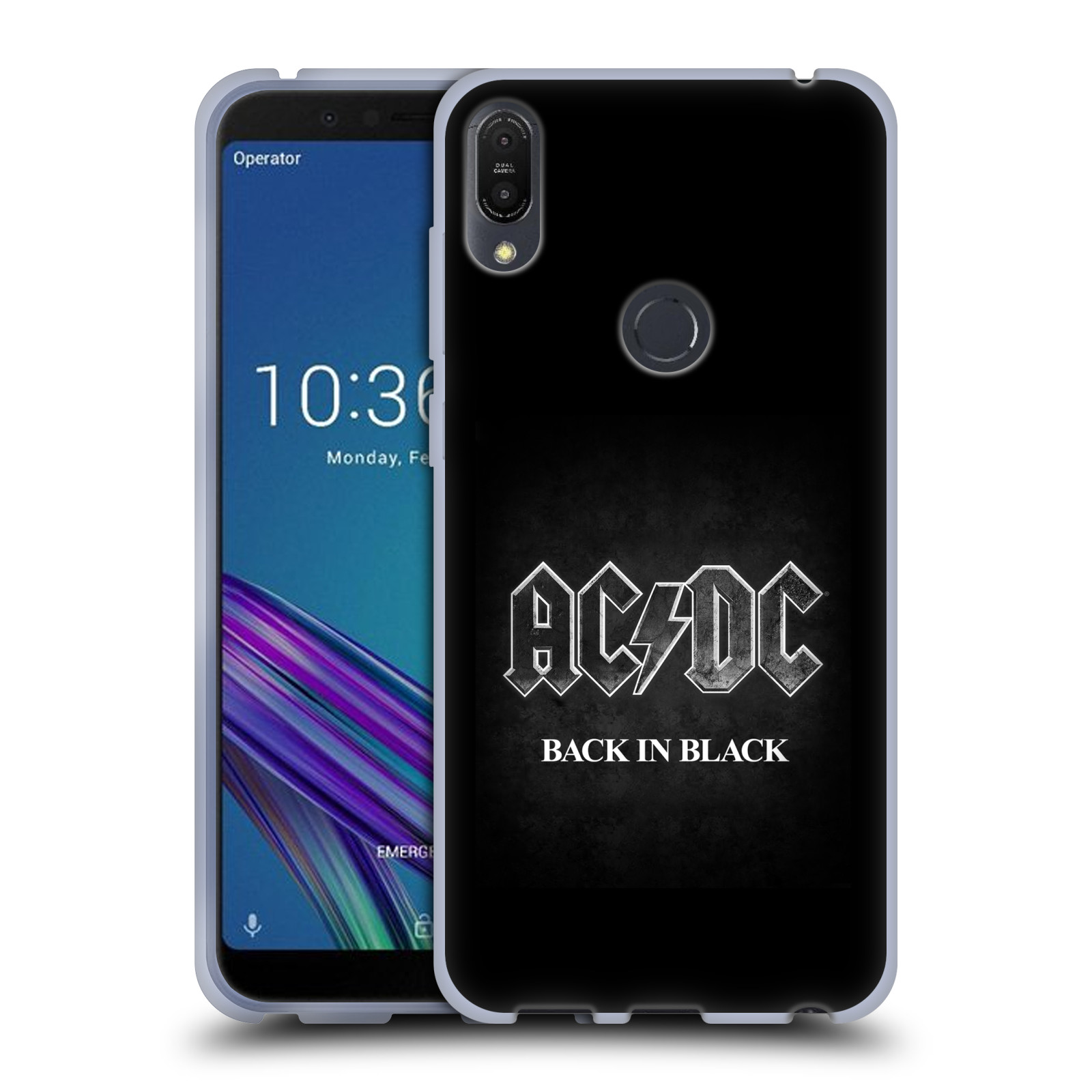 Silikonové pouzdro na mobil Asus ZenFone Max Pro (M1) - Head Case - AC/DC BACK IN BLACK