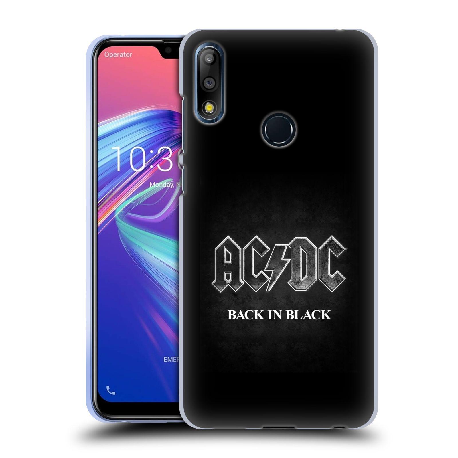 Silikonové pouzdro na mobil Asus Zenfone Max Pro M2 ZB631KL - Head Case - AC/DC BACK IN BLACK