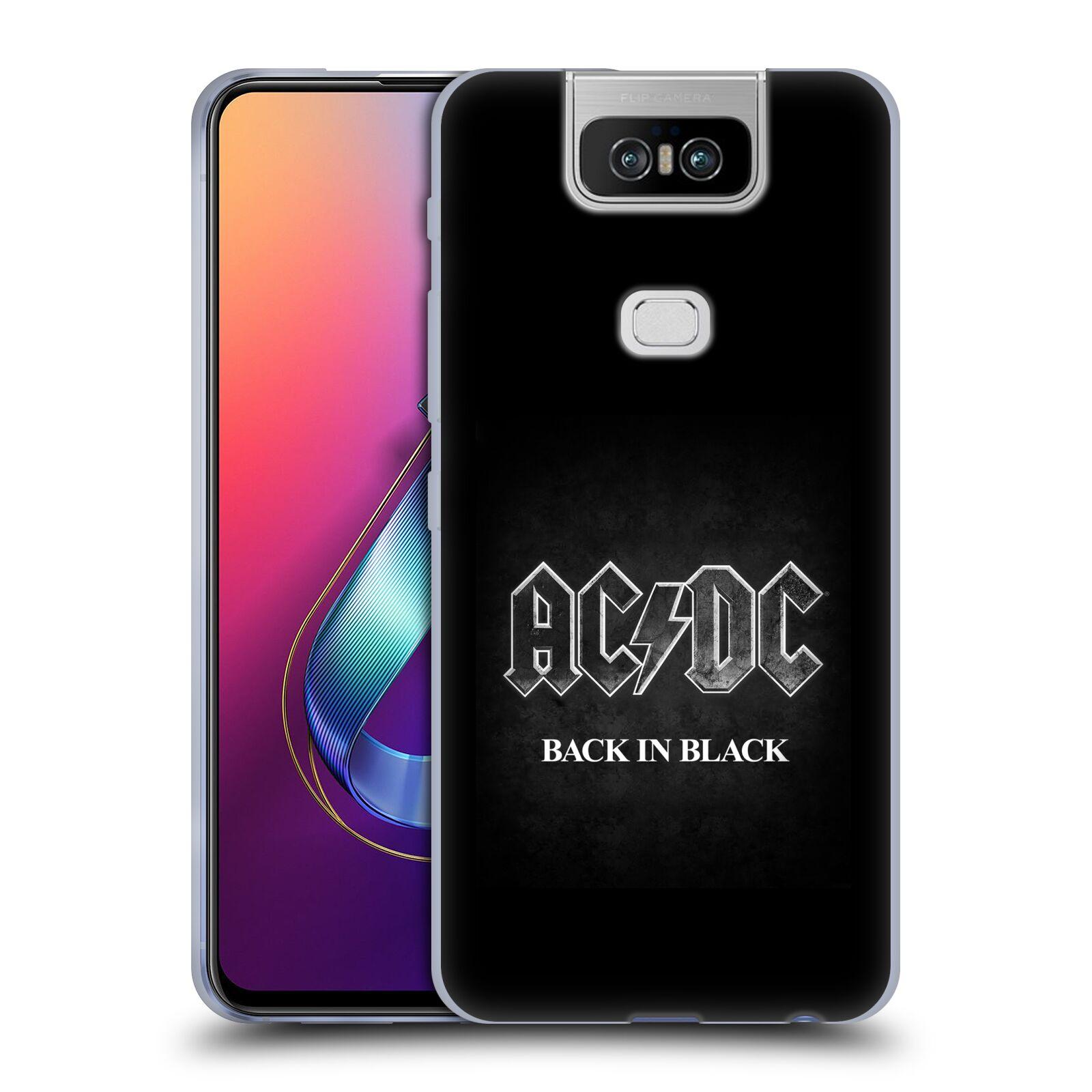 Silikonové pouzdro na mobil Asus Zenfone 6 ZS630KL - Head Case - AC/DC BACK IN BLACK