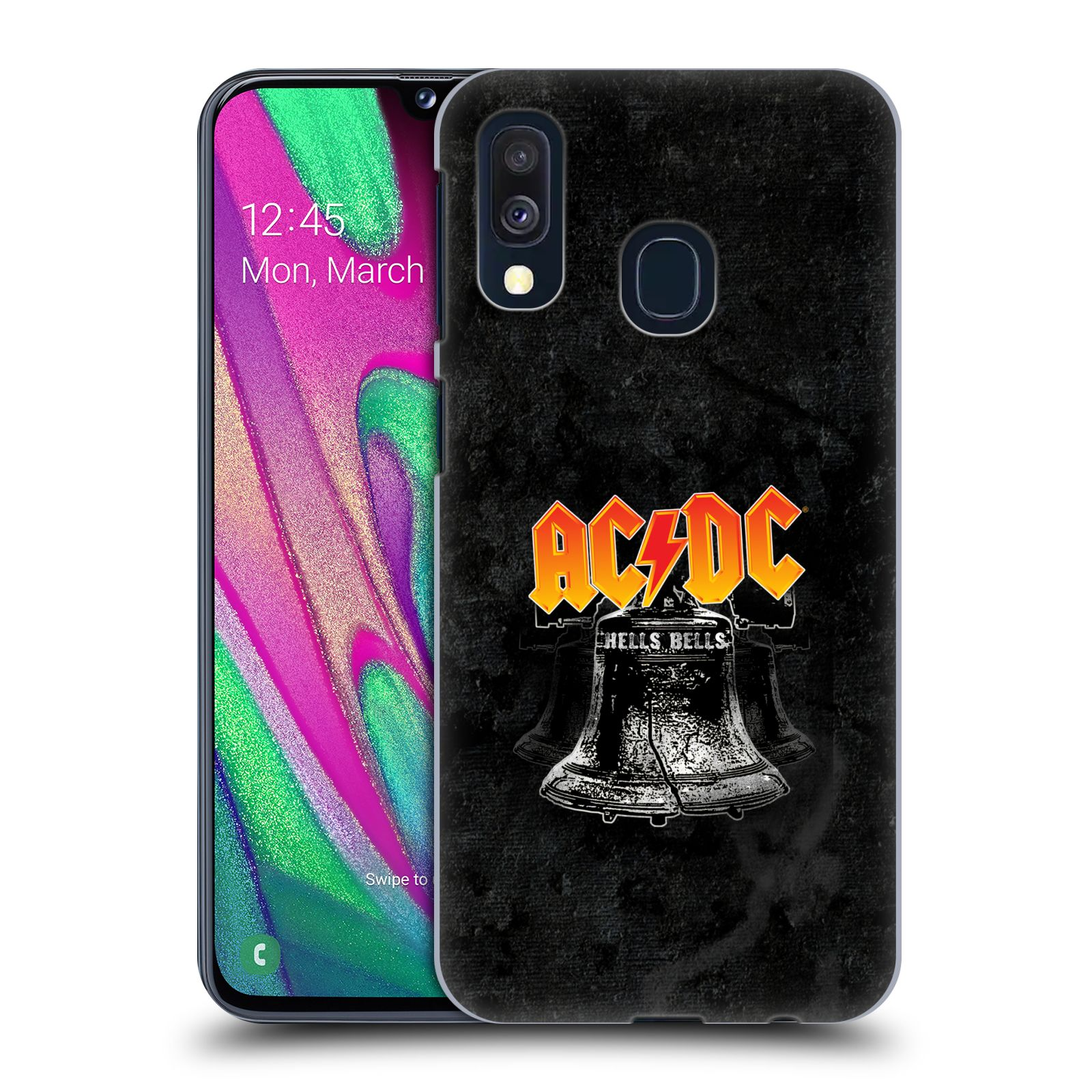 Plastové pouzdro na mobil Samsung Galaxy A40 - Head Case - AC/DC Hells Bells