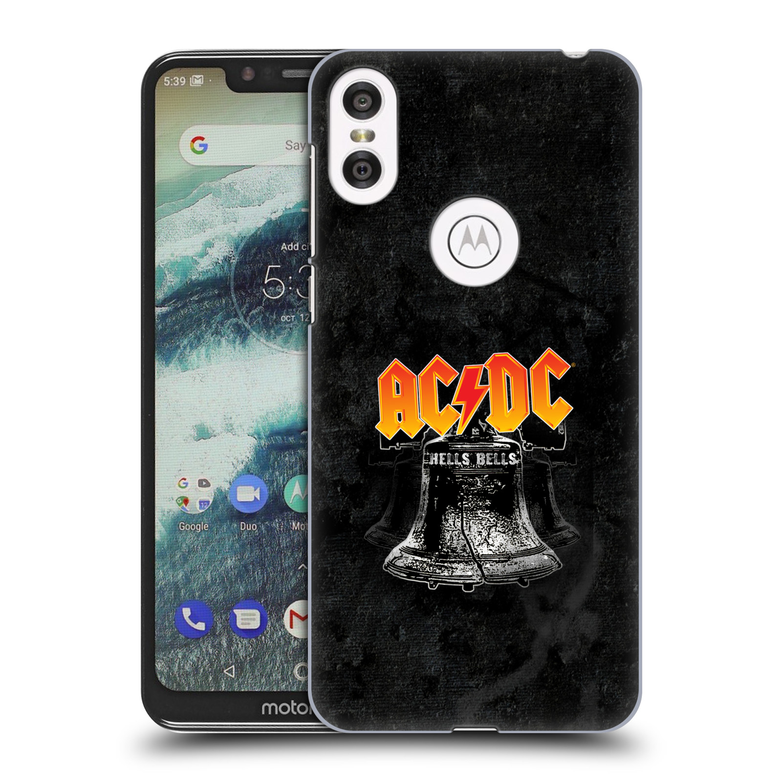 Plastové pouzdro na mobil Motorola One - Head Case - AC/DC Hells Bells