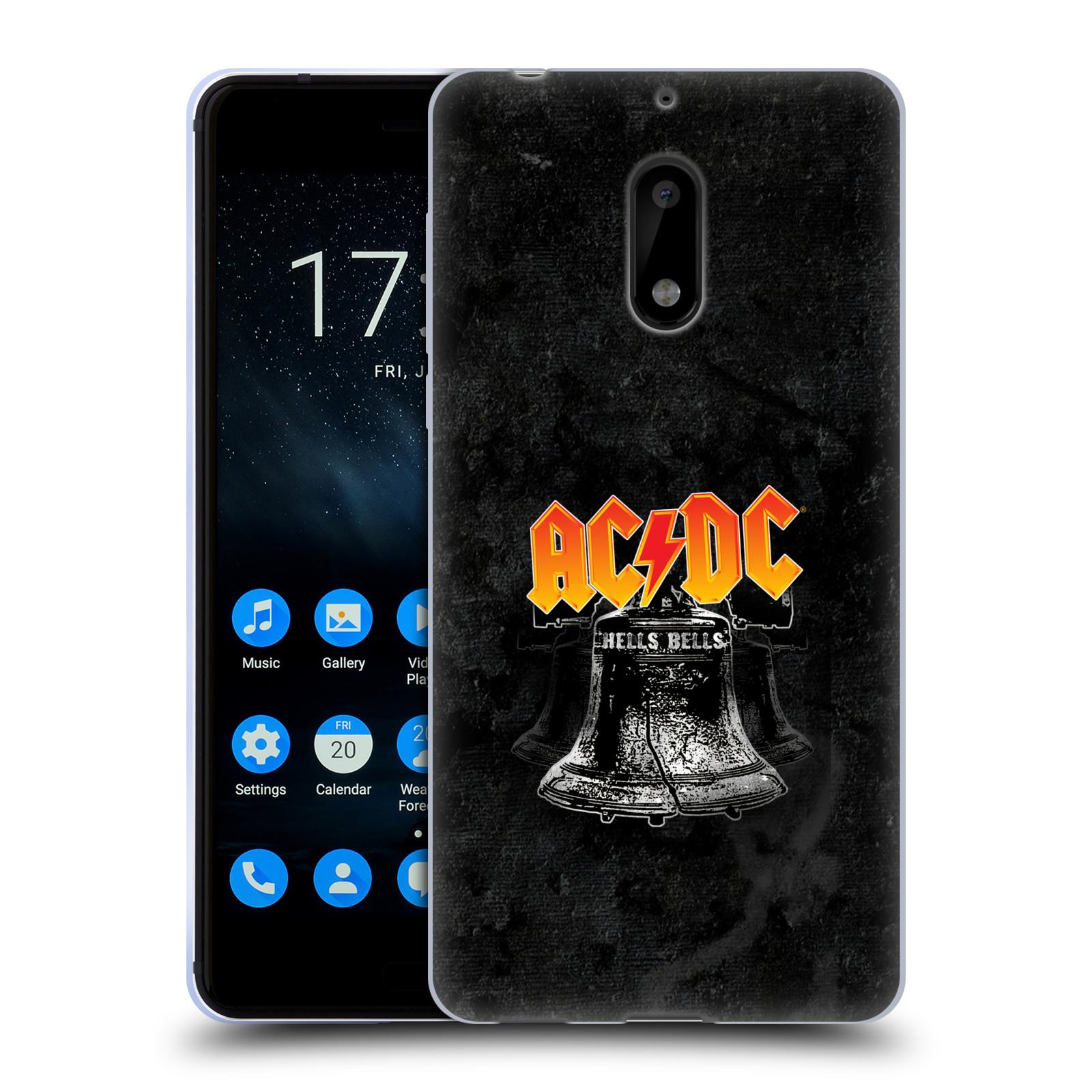 Silikonové pouzdro na mobil Nokia 6 - Head Case - AC/DC Hells Bells