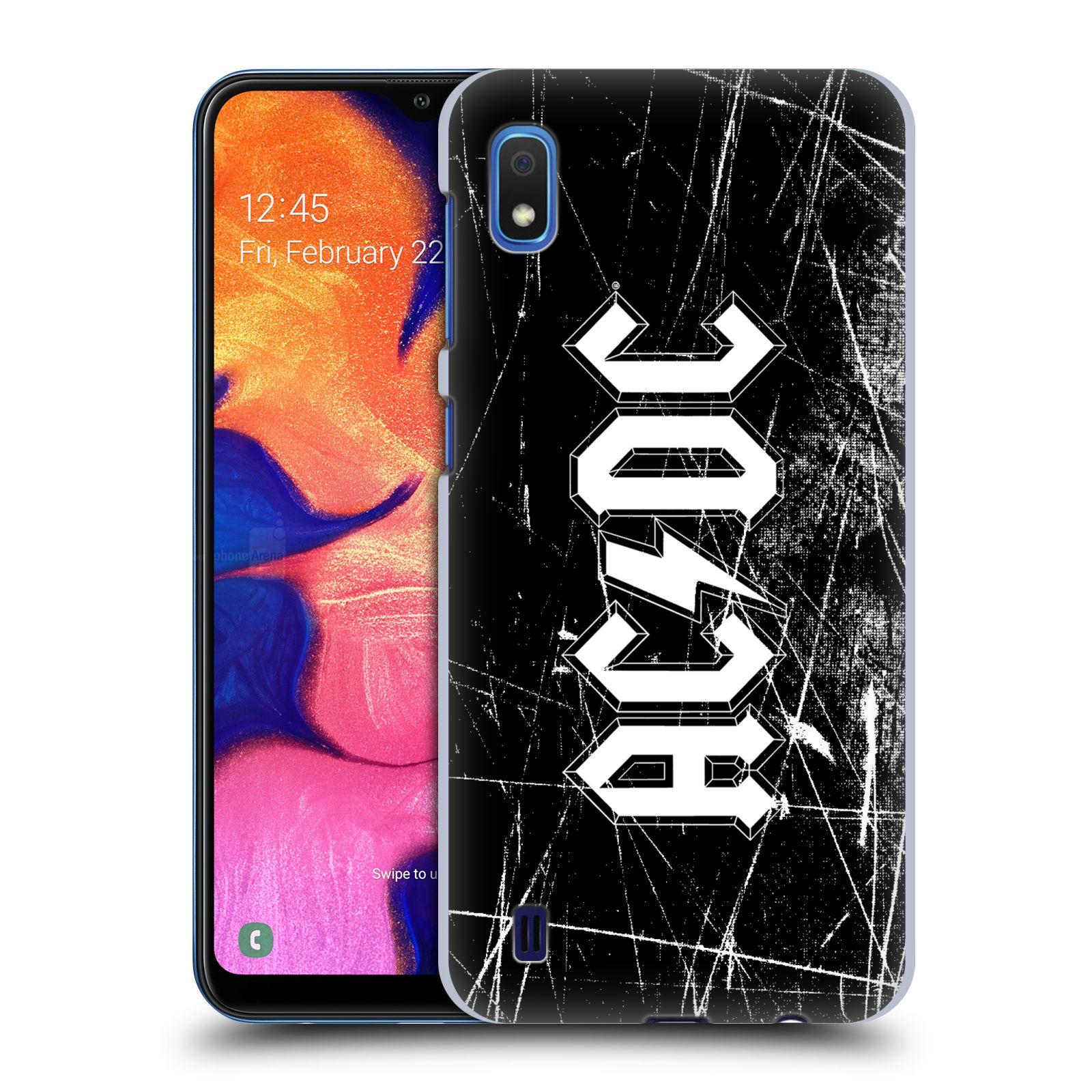 Plastové pouzdro na mobil Samsung Galaxy A10 - Head Case - AC/DC Černobílé logo