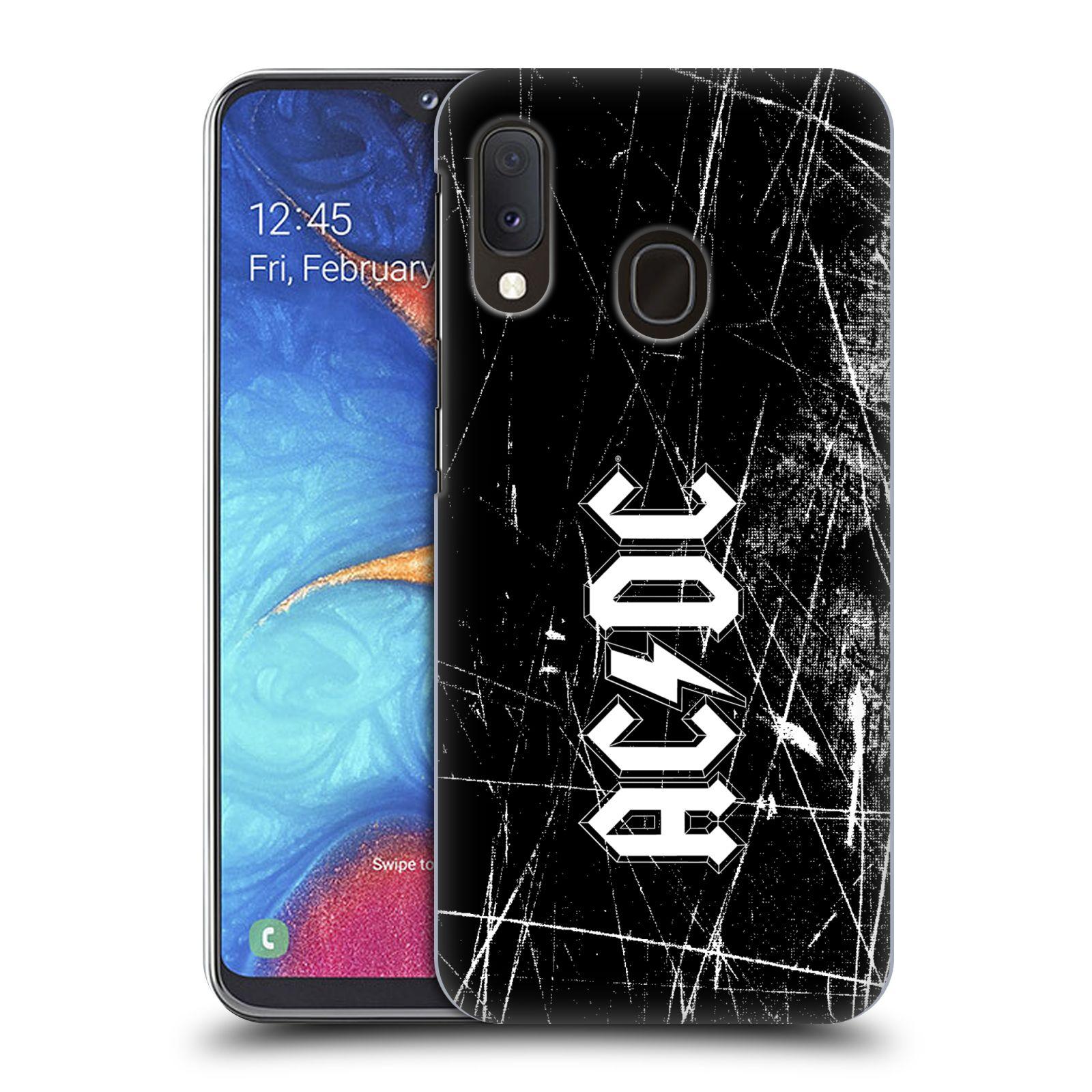 Plastové pouzdro na mobil Samsung Galaxy A20e - Head Case - AC/DC Černobílé logo