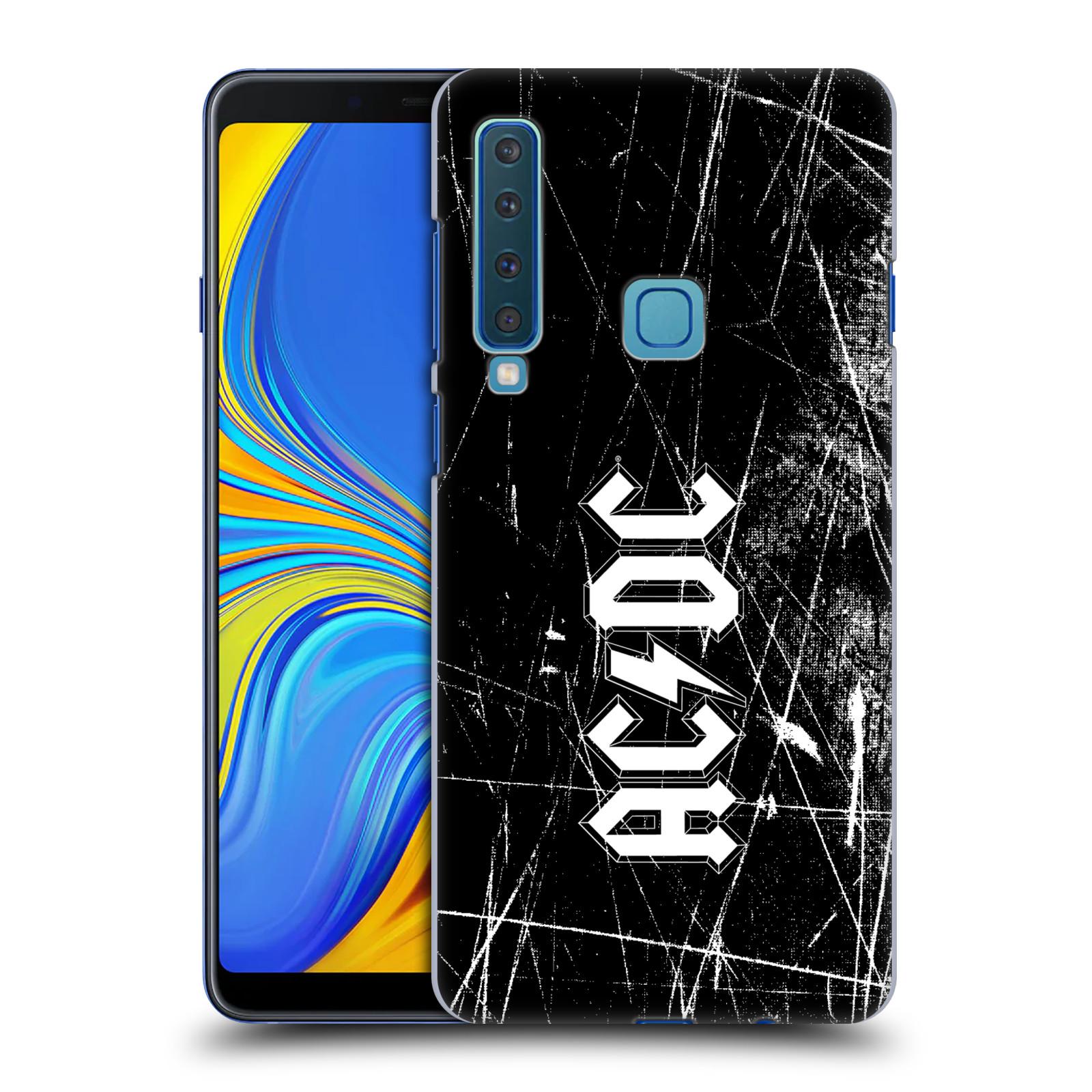Plastové pouzdro na mobil Samsung Galaxy A9 (2018) - Head Case - AC/DC Černobílé logo
