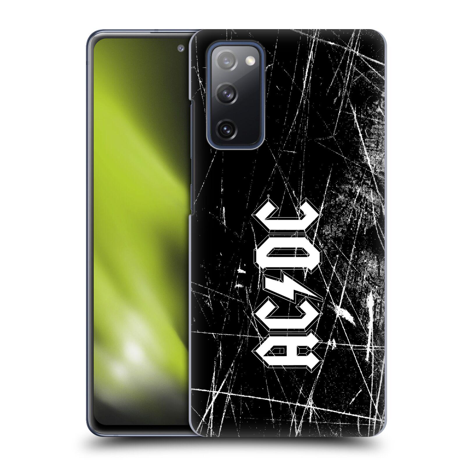 Plastové pouzdro na mobil Samsung Galaxy S20 FE - Head Case - AC/DC Černobílé logo