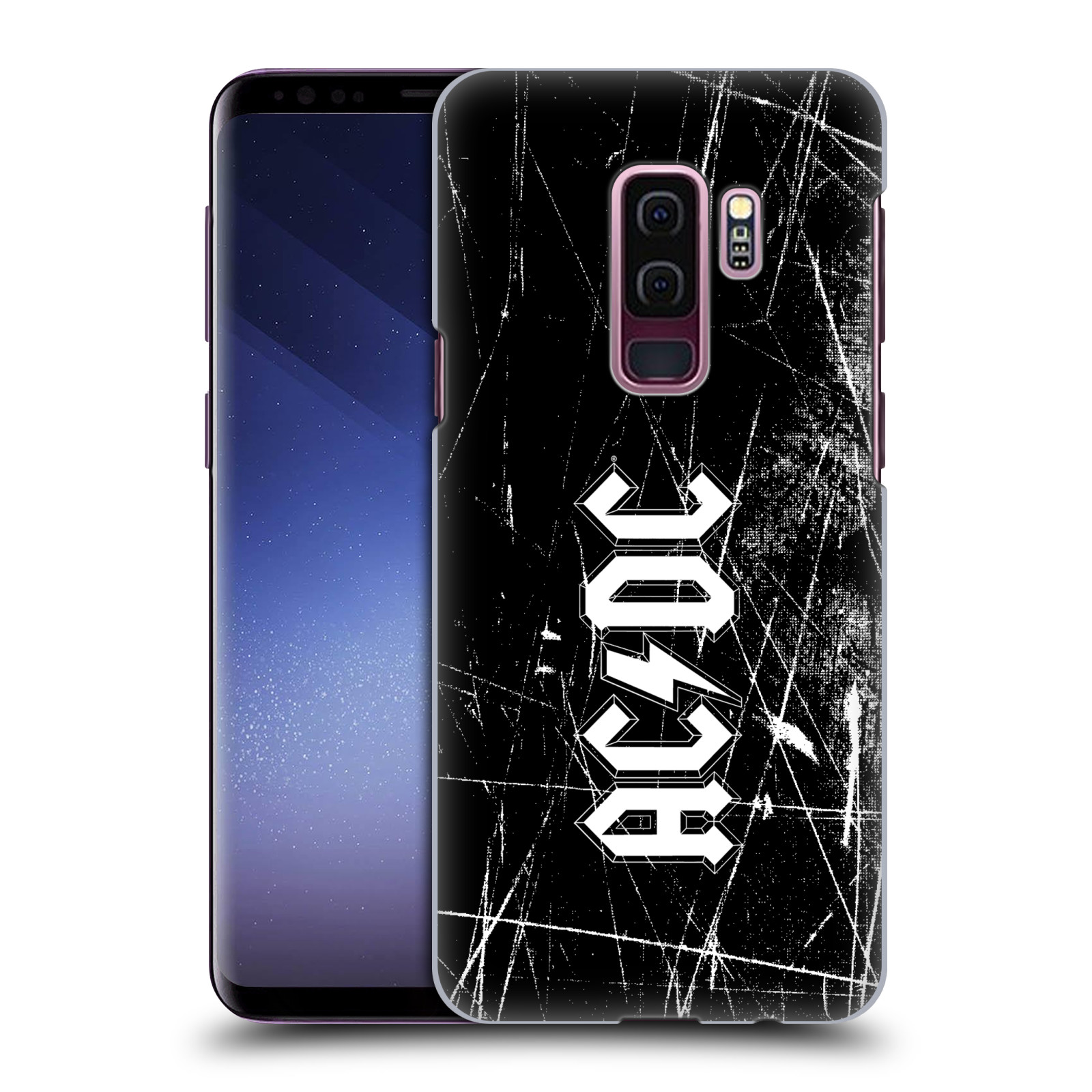 Plastové pouzdro na mobil Samsung Galaxy S9 Plus - Head Case - AC/DC Černobílé logo