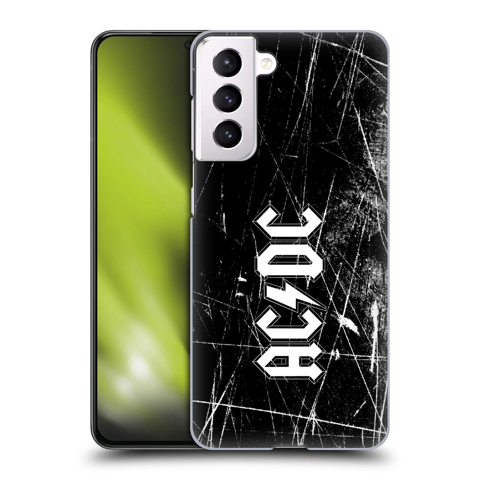 Plastové pouzdro na mobil Samsung Galaxy S21 5G - Head Case - AC/DC Černobílé logo
