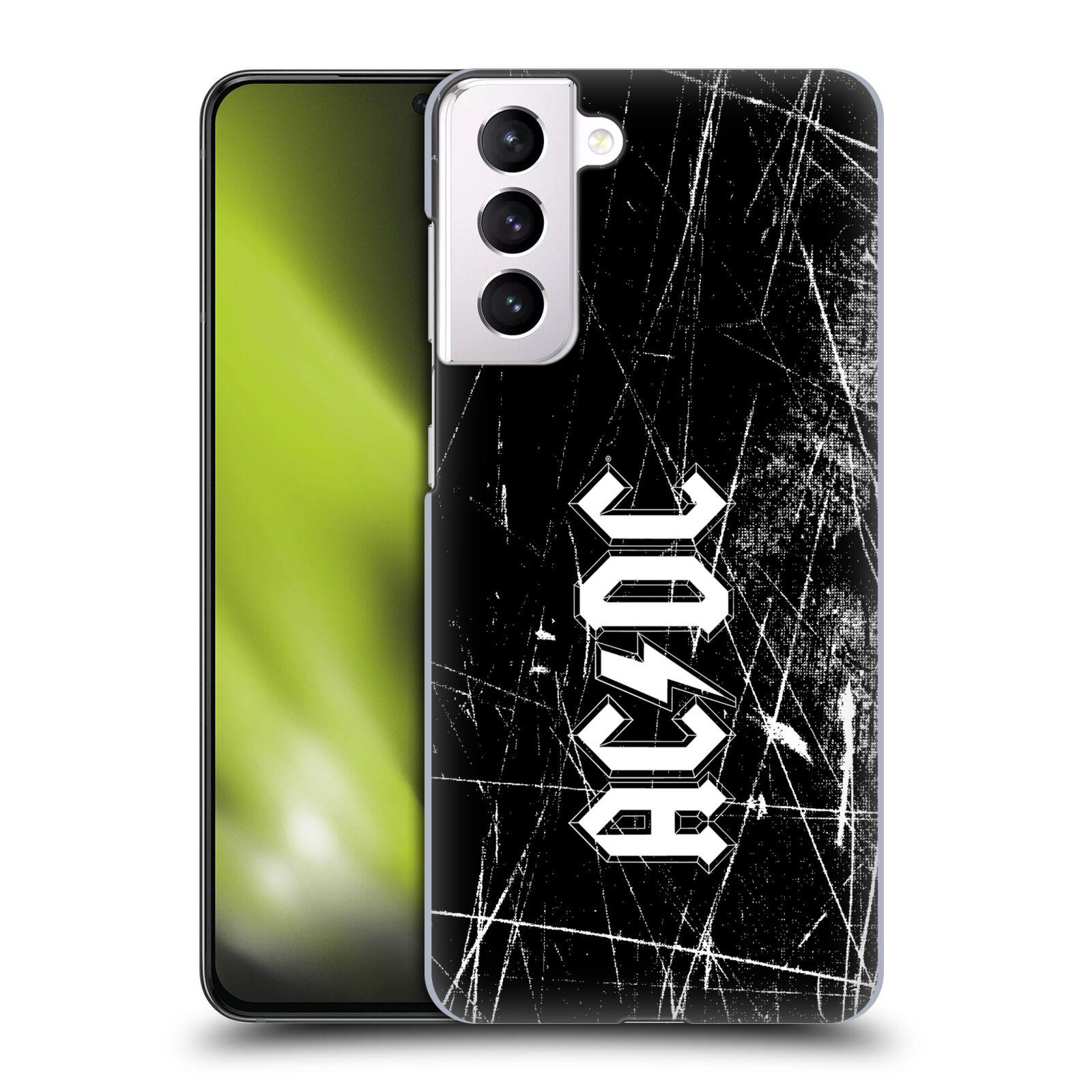 Plastové pouzdro na mobil Samsung Galaxy S21 Plus 5G - Head Case - AC/DC Černobílé logo