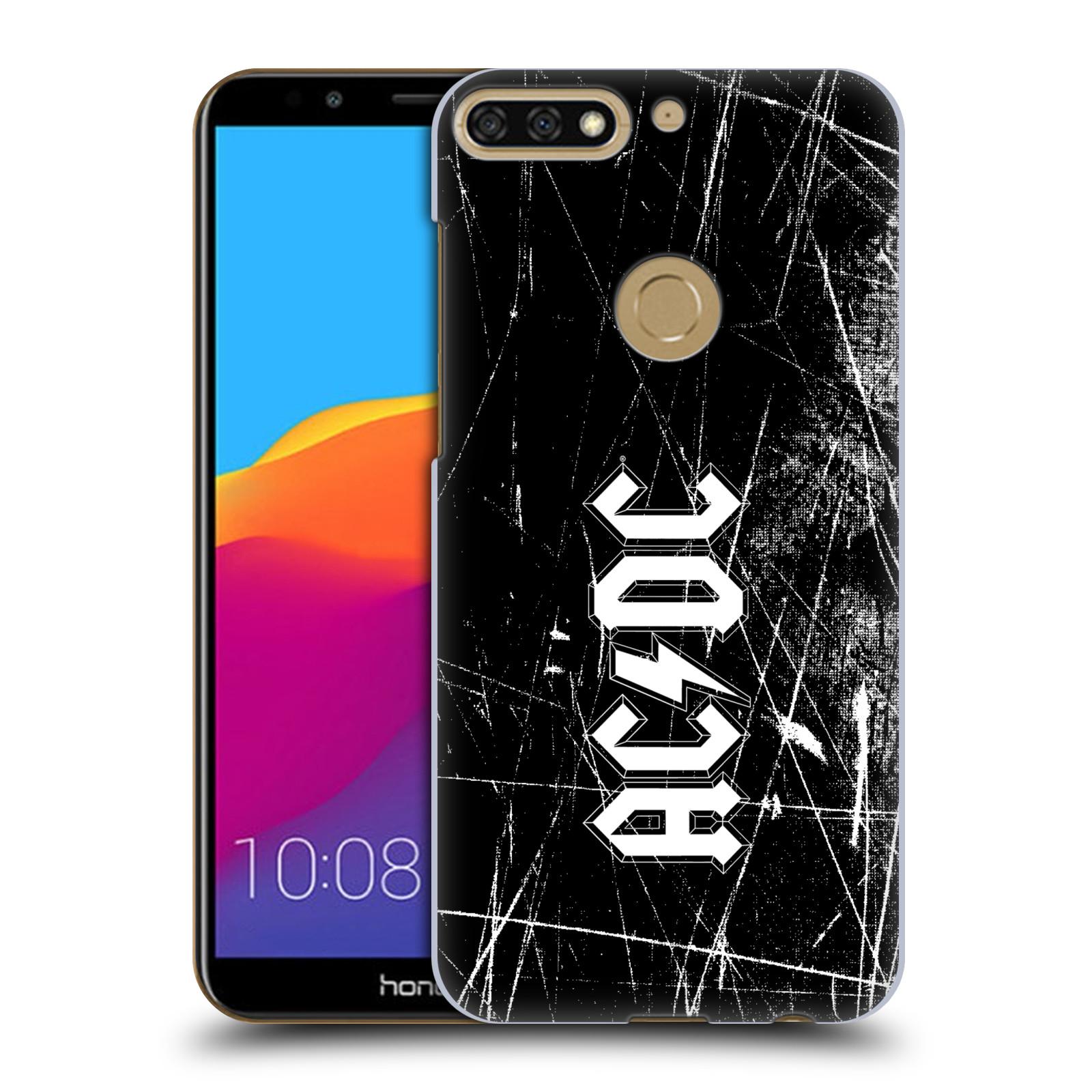Plastové pouzdro na mobil Huawei Y7 Prime 2018 - Head Case - AC/DC Černobílé logo