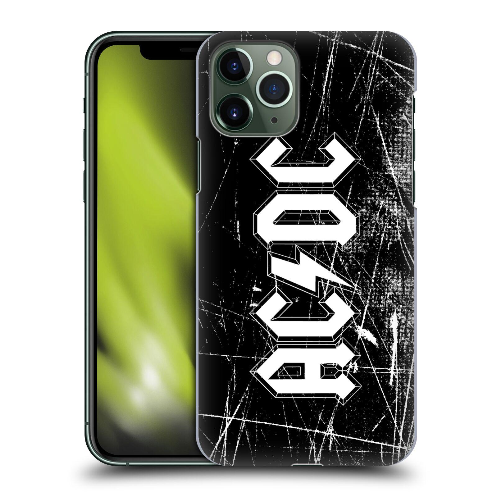 Plastové pouzdro na mobil Apple iPhone 11 Pro - Head Case - AC/DC Černobílé logo