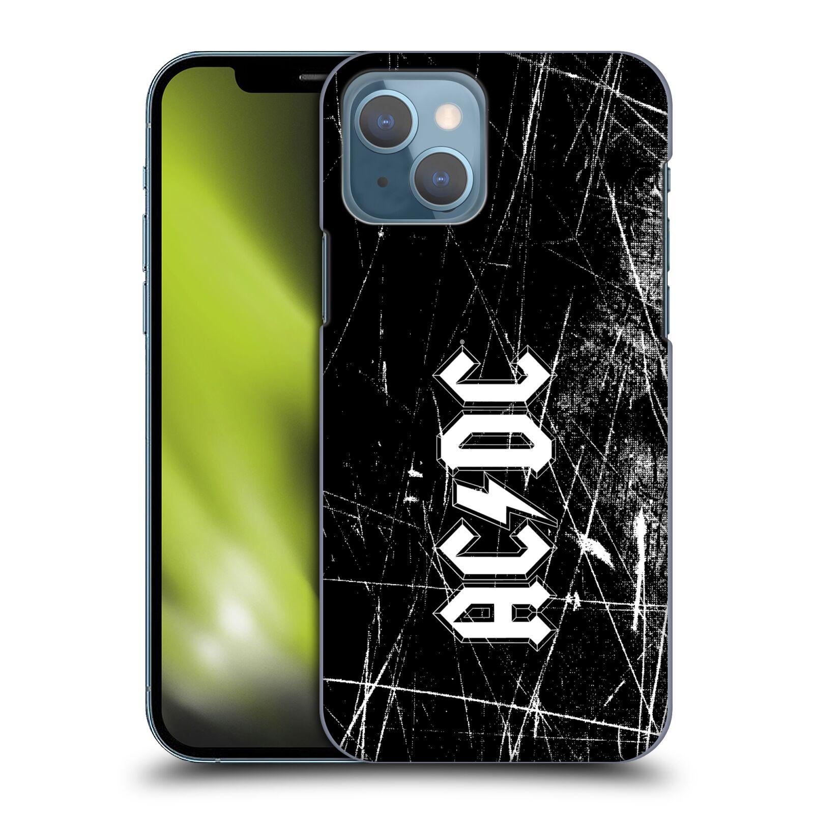 Plastové pouzdro na mobil Apple iPhone 13 - Head Case - AC/DC Černobílé logo