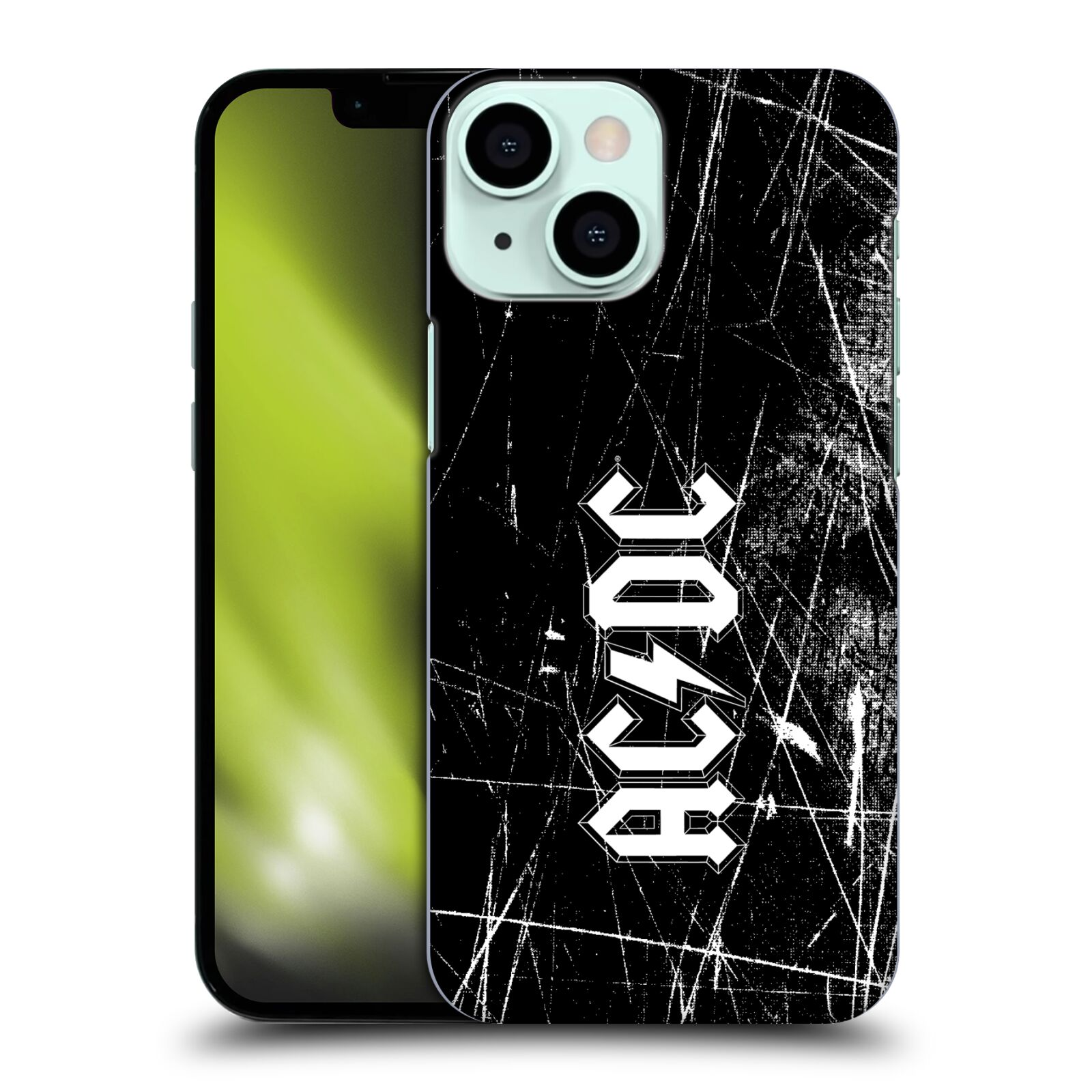 Plastové pouzdro na mobil Apple iPhone 13 Mini - Head Case - AC/DC Černobílé logo