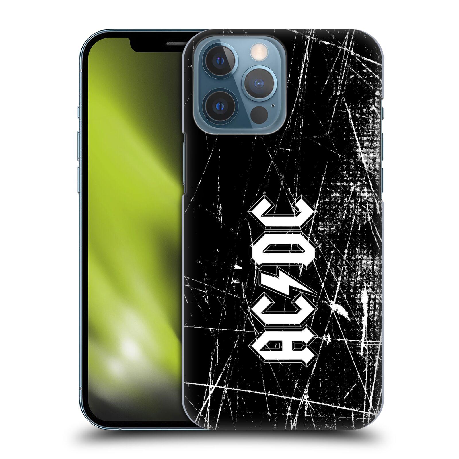 Plastové pouzdro na mobil Apple iPhone 13 Pro Max - Head Case - AC/DC Černobílé logo