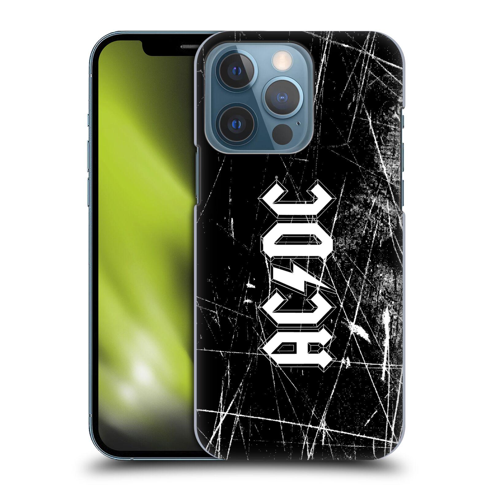 Plastové pouzdro na mobil Apple iPhone 13 Pro - Head Case - AC/DC Černobílé logo