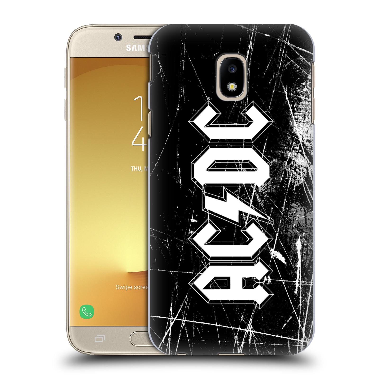 Plastové pouzdro na mobil Samsung Galaxy J3 (2017) - Head Case - AC/DC Černobílé logo