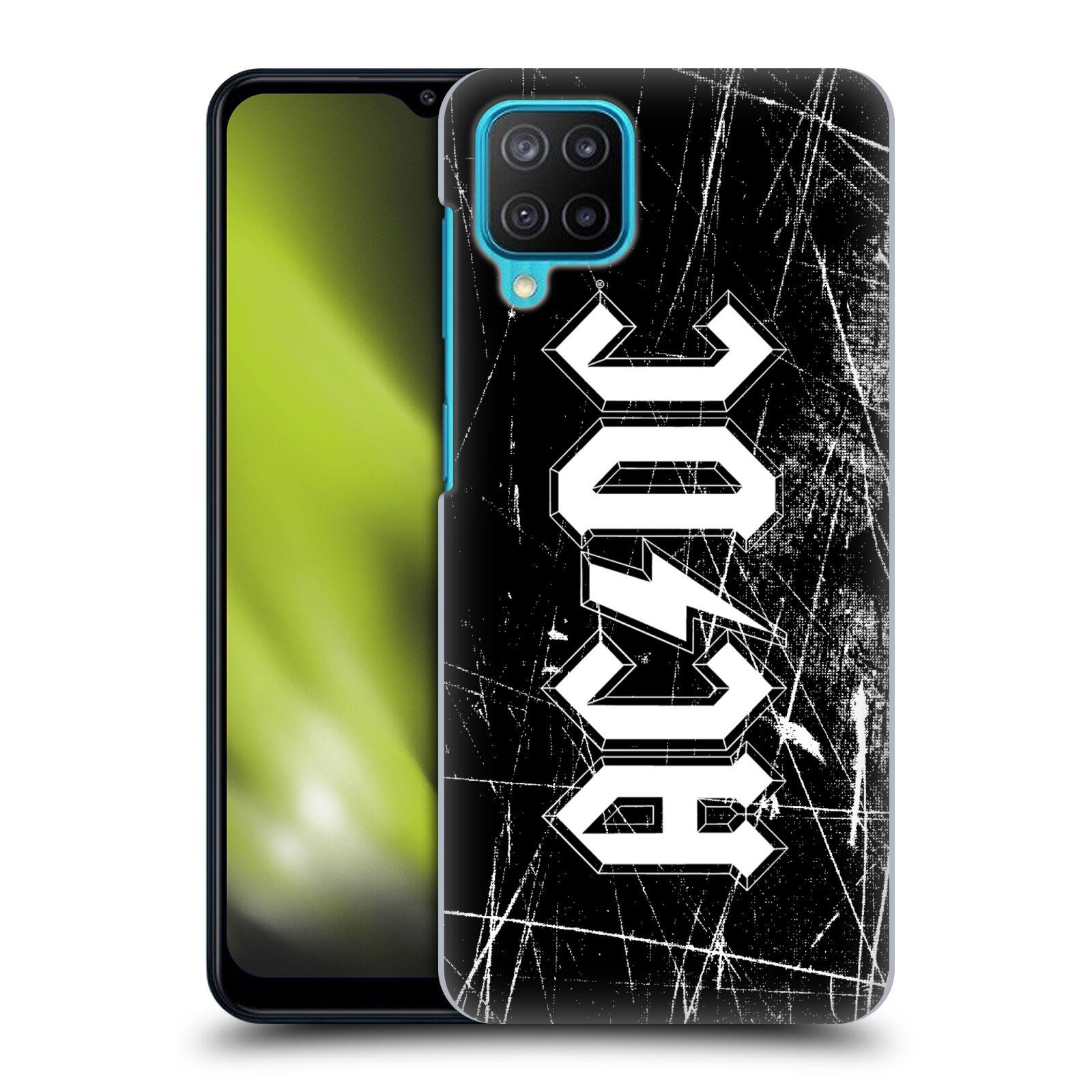 Plastové pouzdro na mobil Samsung Galaxy M12 - Head Case - AC/DC Černobílé logo