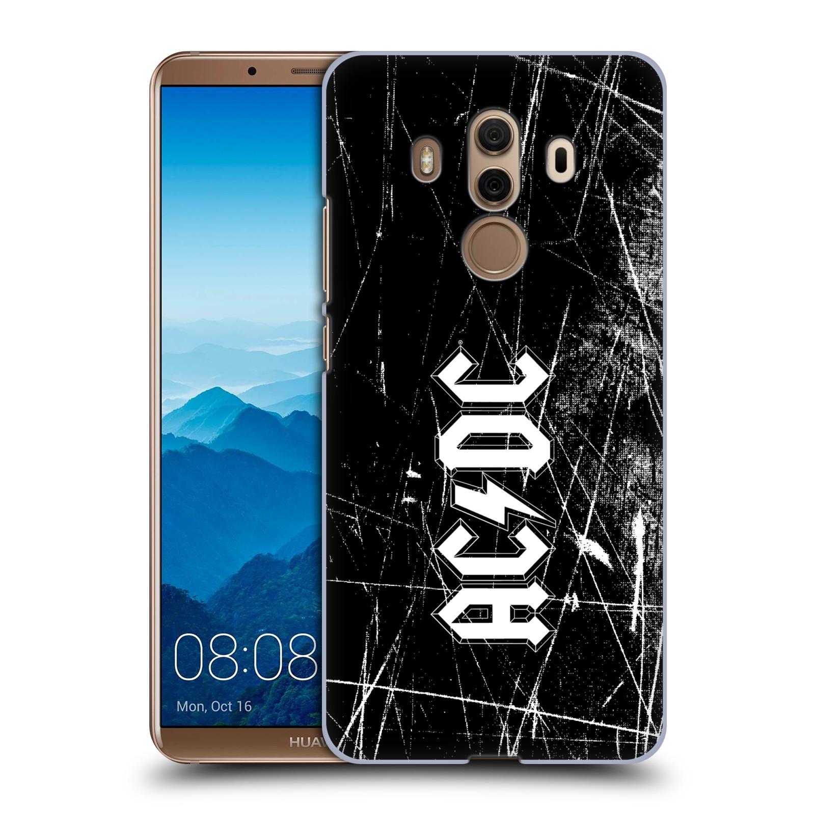 Plastové pouzdro na mobil Huawei Mate 10 Pro - Head Case - AC/DC Černobílé logo