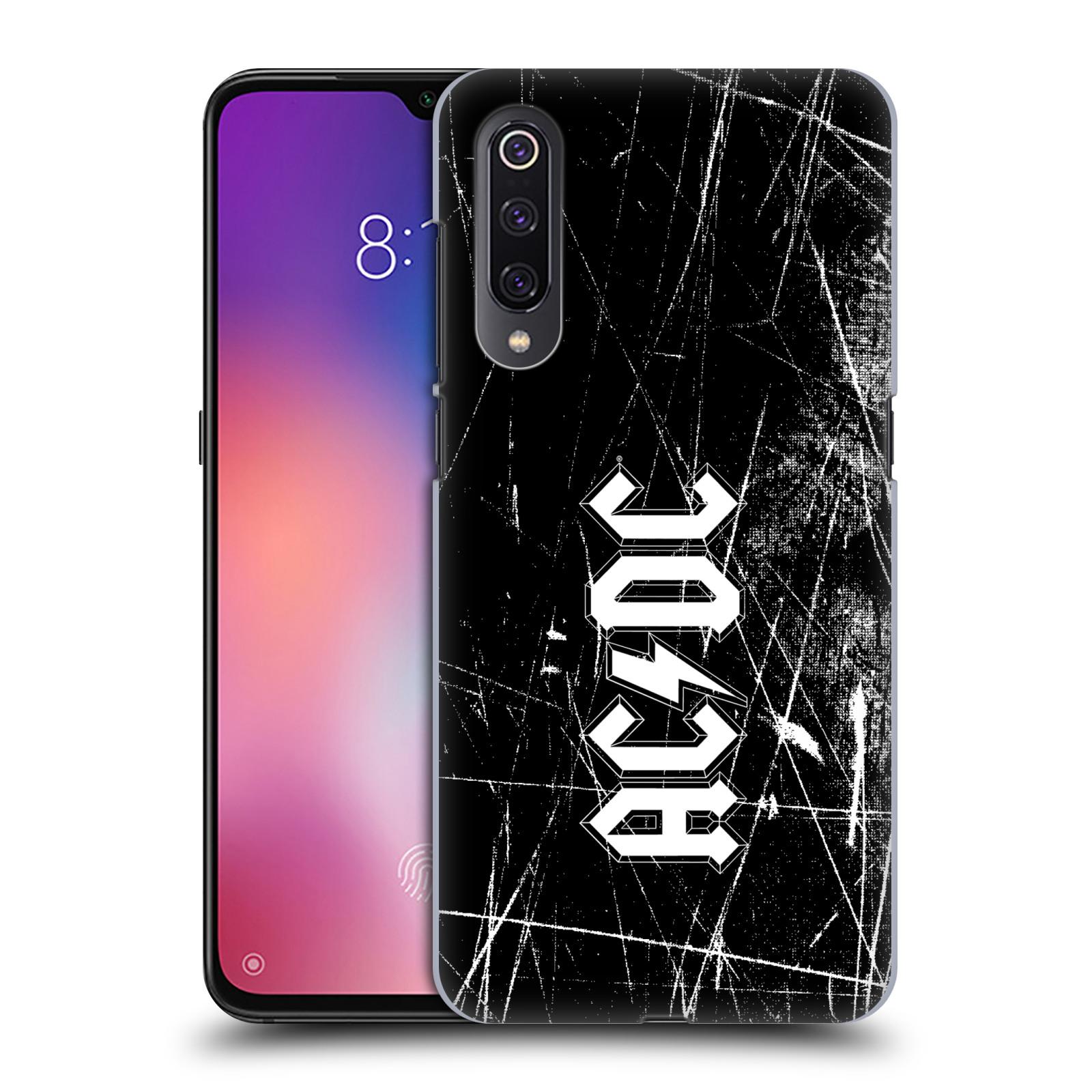 Plastové pouzdro na mobil Xiaomi Mi 9 - Head Case - AC/DC Černobílé logo