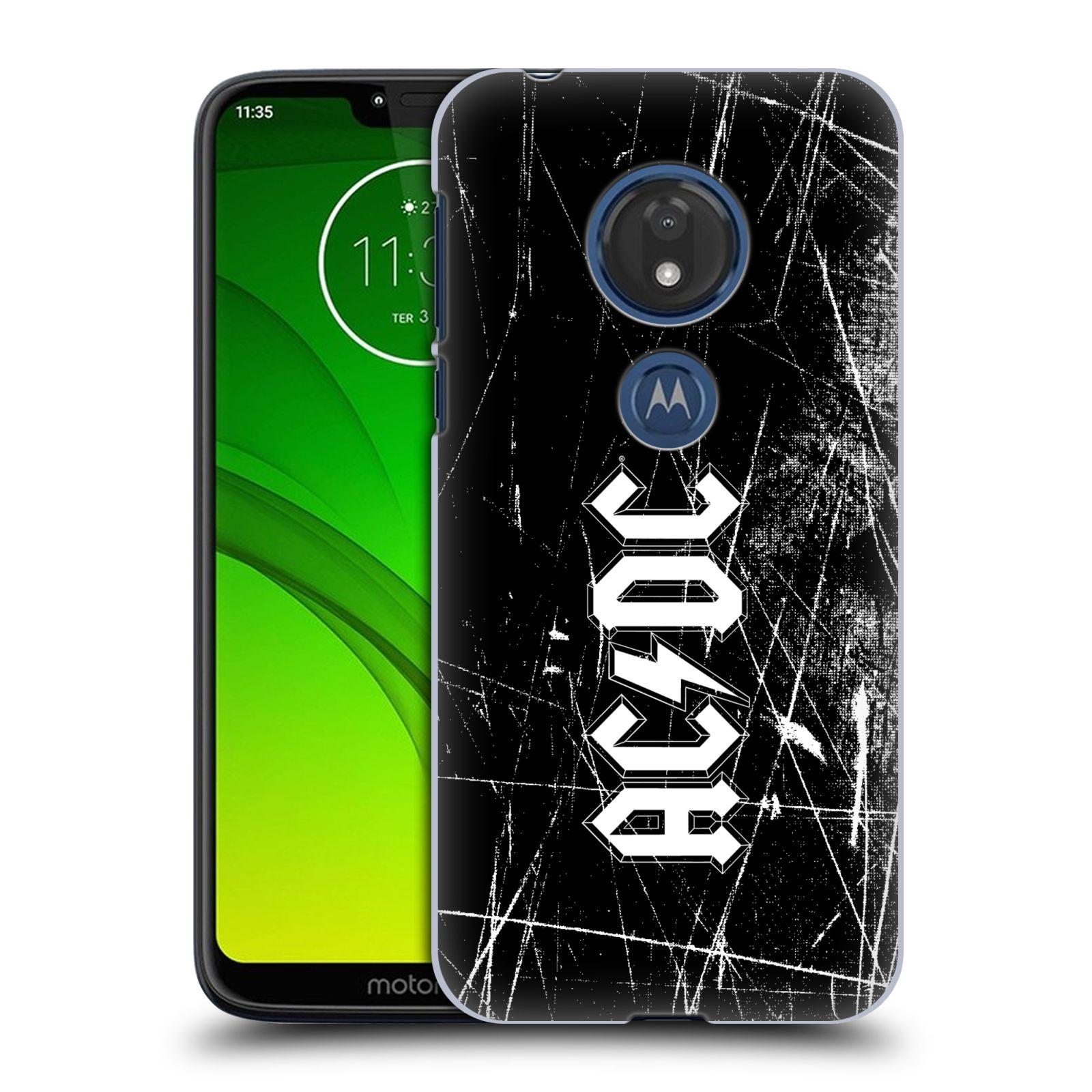 Plastové pouzdro na mobil Motorola Moto G7 Play - Head Case - AC/DC Černobílé logo