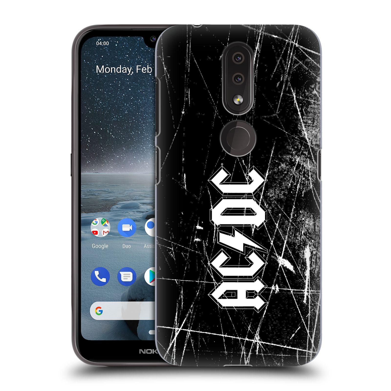 Plastové pouzdro na mobil Nokia 4.2 - Head Case - AC/DC Černobílé logo
