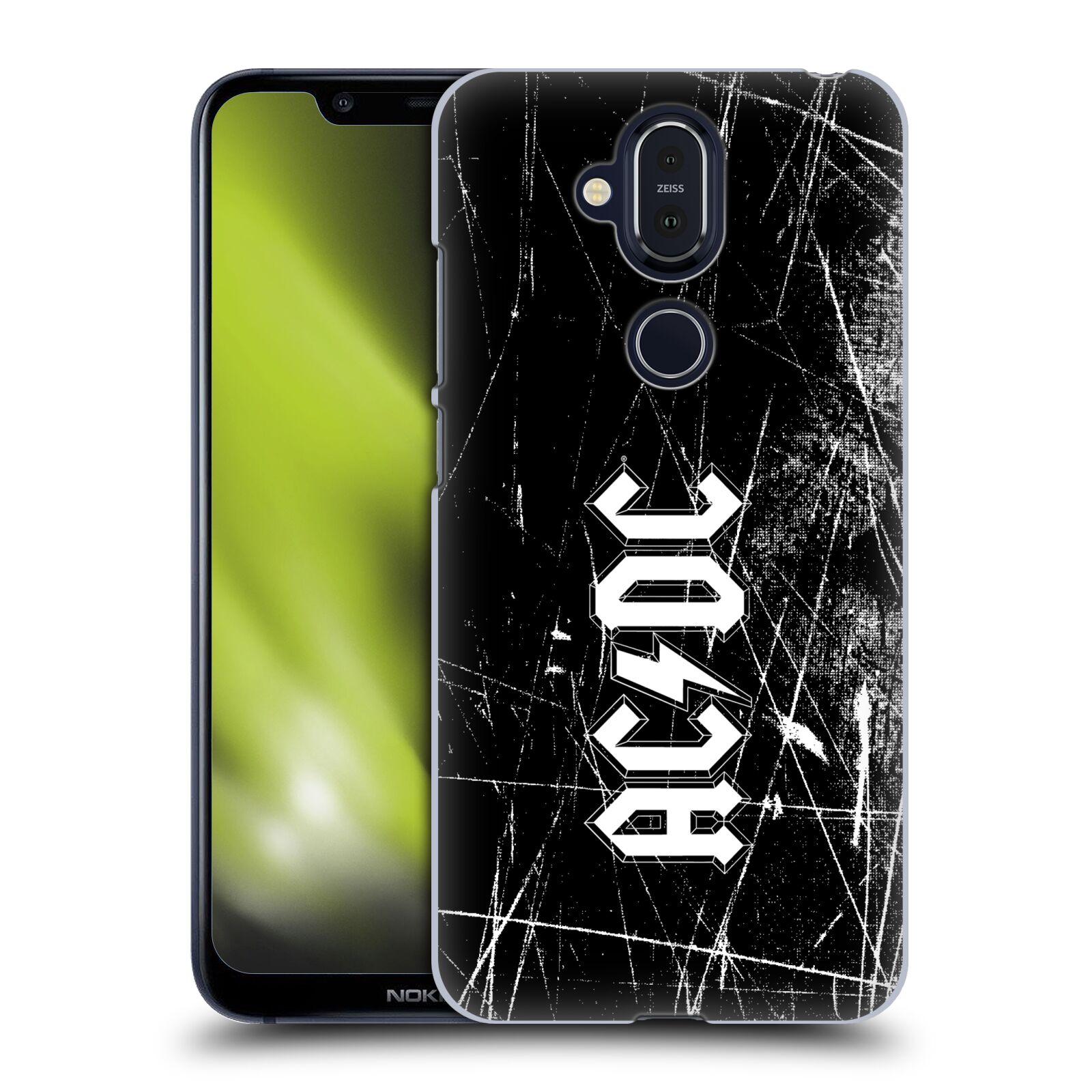 Plastové pouzdro na mobil Nokia 8.1 - Head Case - AC/DC Černobílé logo