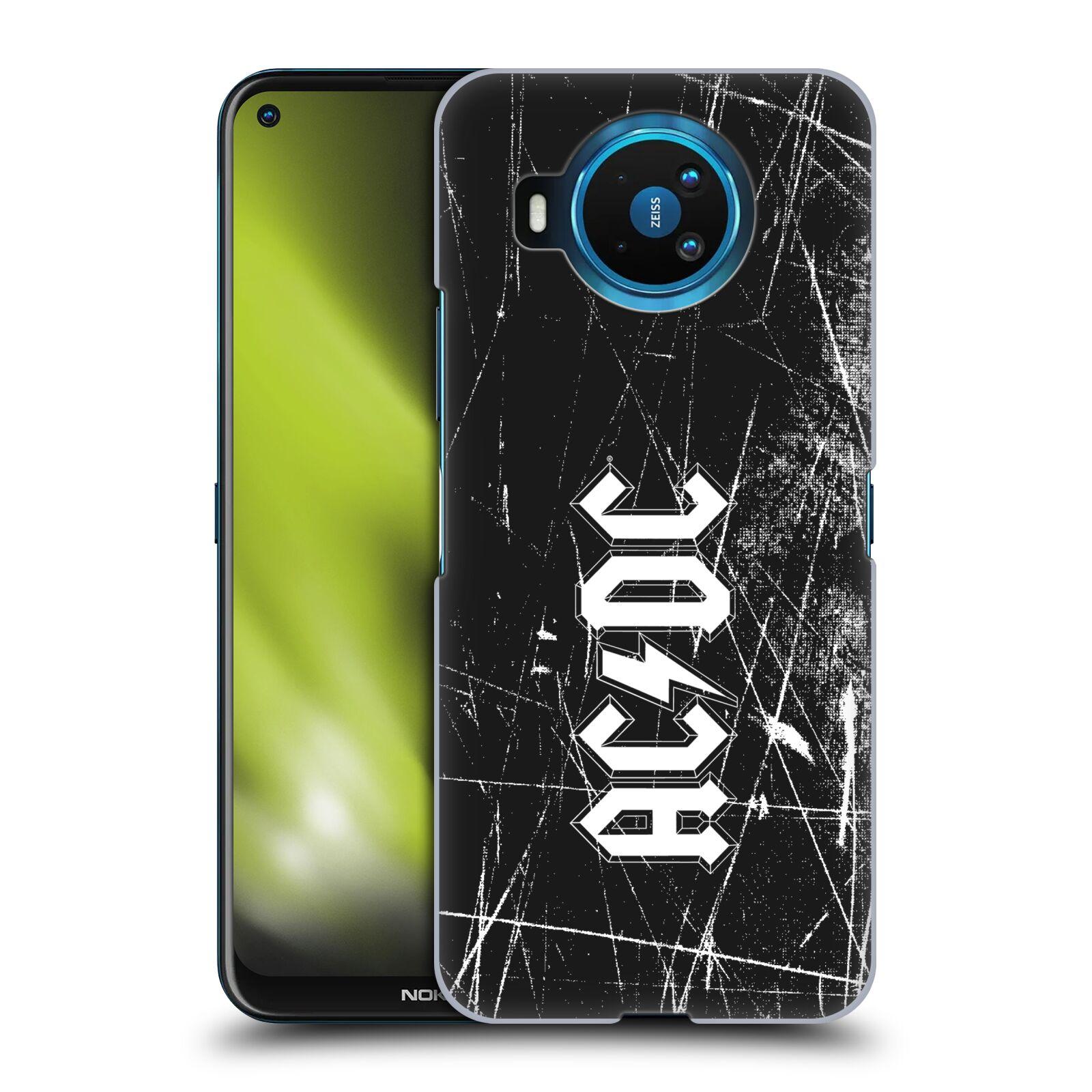 Plastové pouzdro na mobil Nokia 8.3 5G - Head Case - AC/DC Černobílé logo